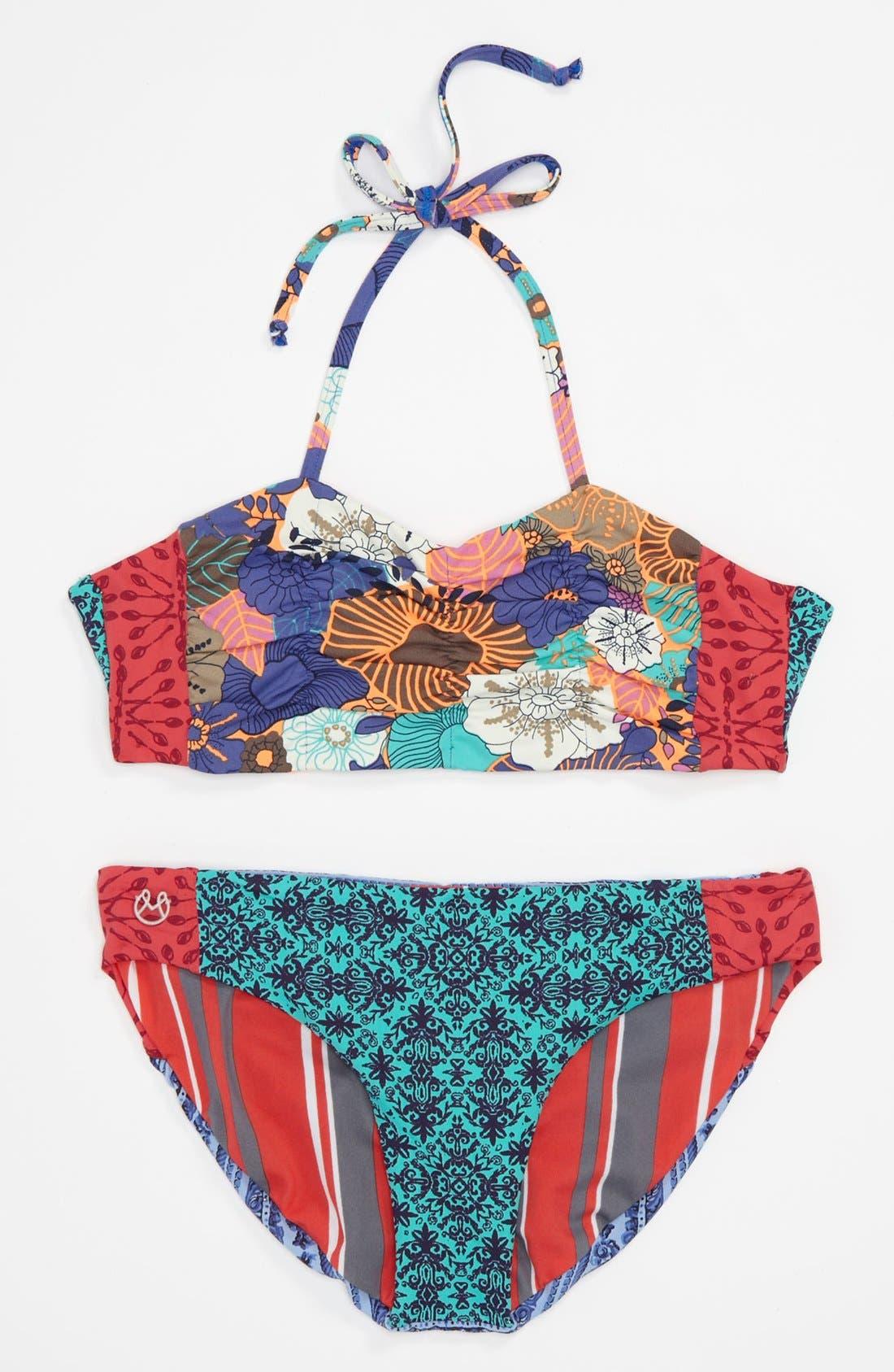 Alternate Image 1 Selected - Maaji Reversible Two Piece Swimsuit (Little Girls & Big Girls)