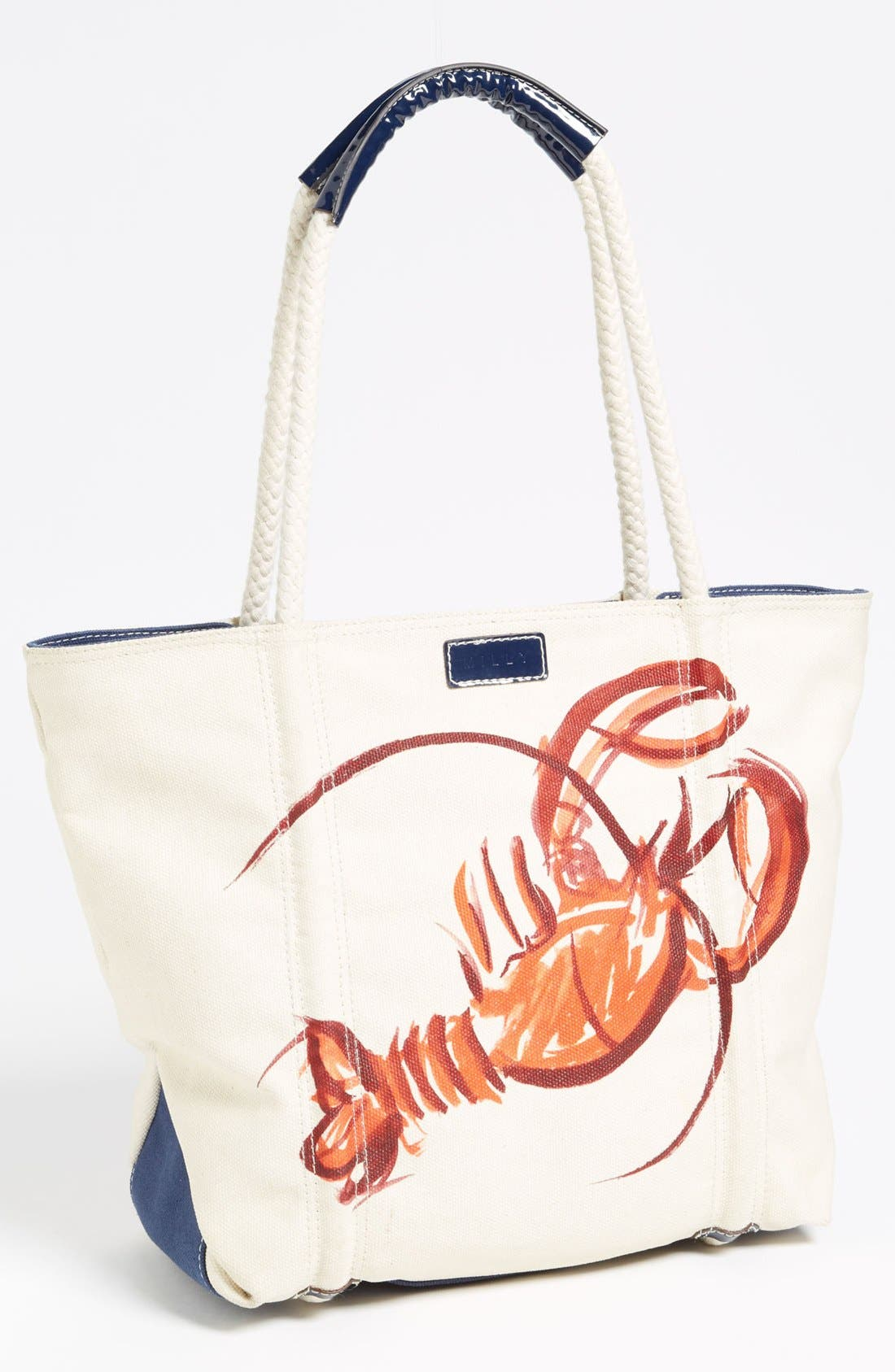 Alternate Image 1 Selected - Milly Lobster Print Canvas Tote