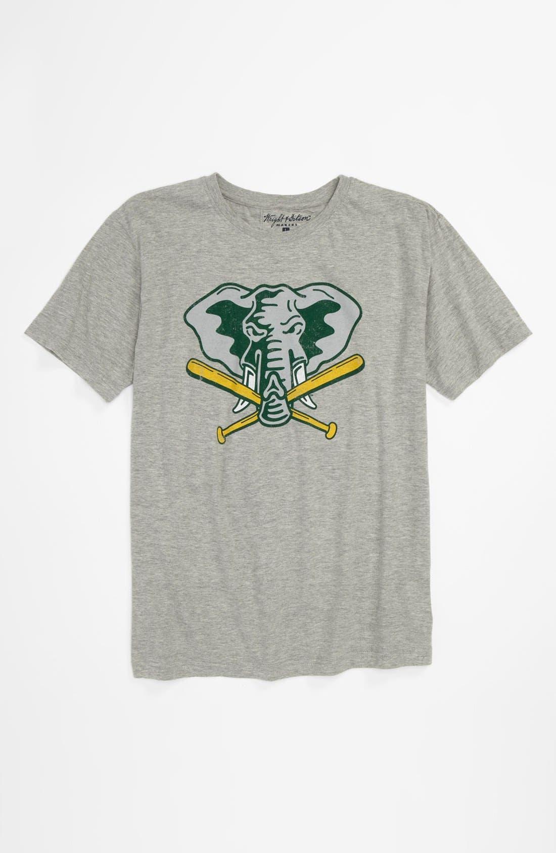 Alternate Image 1 Selected - Wright & Ditson 'Oakland A's' T-Shirt (Little Boys & Big Boys)
