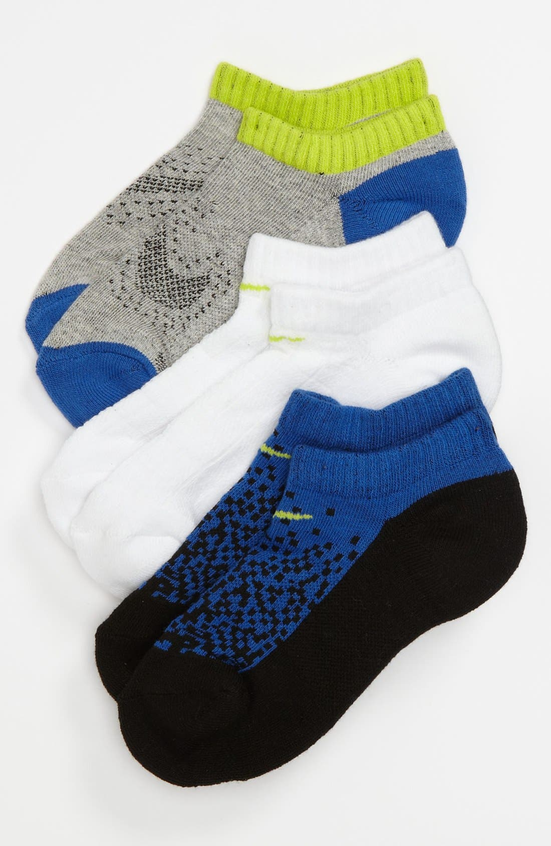 Main Image - NIKE 3 PACK GRAPHIC COTTON SOCKS