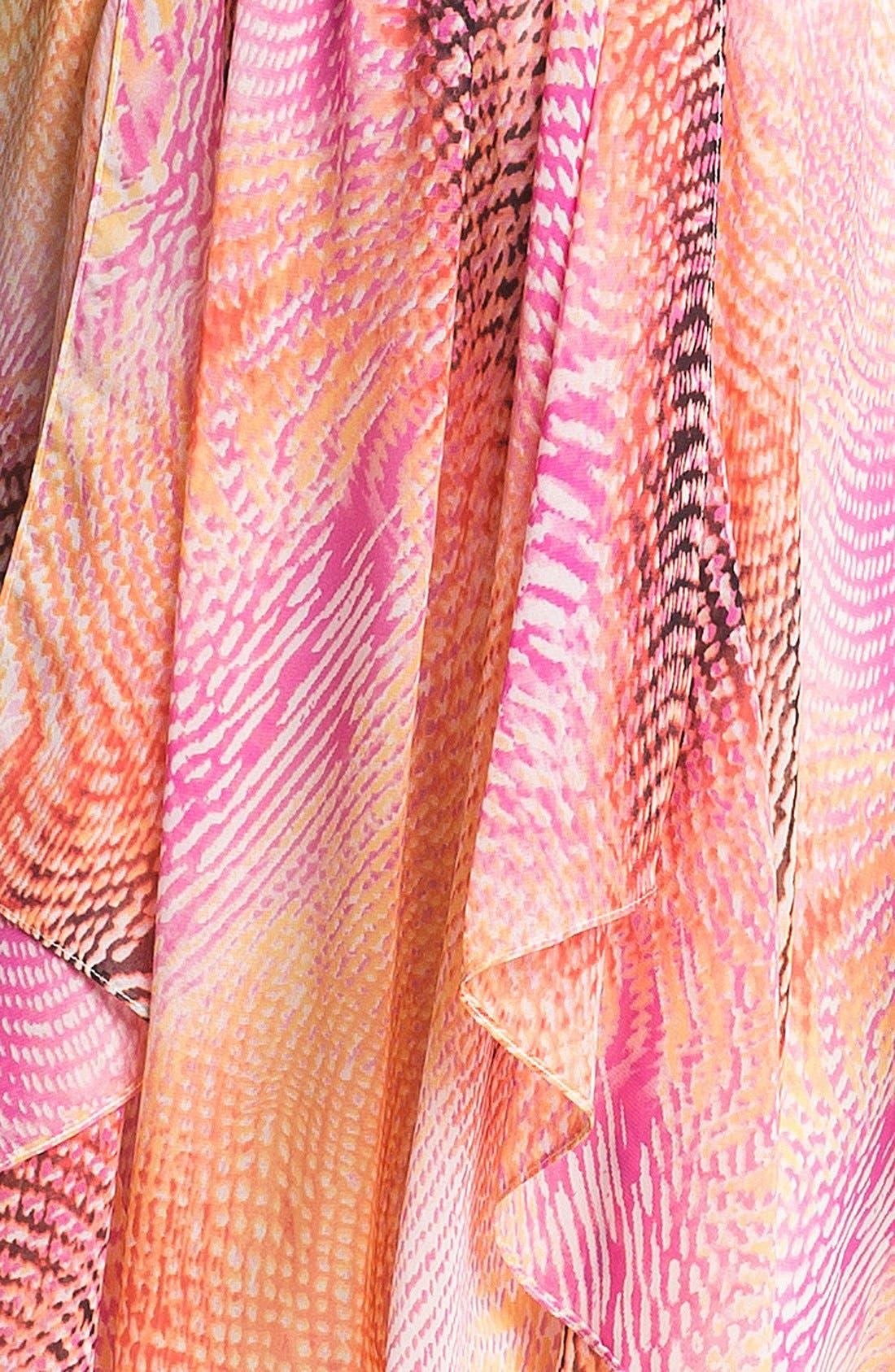 Alternate Image 3  - Maggy London Print High/Low Chiffon Dress