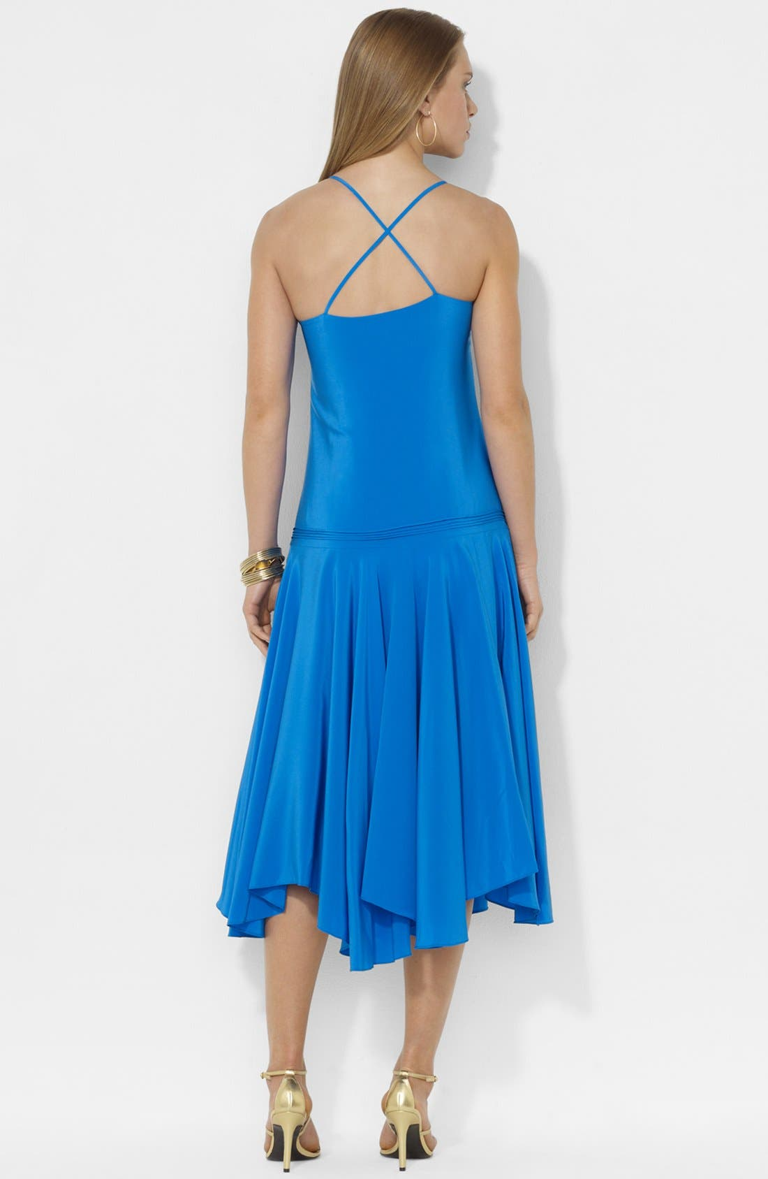 Alternate Image 2  - Lauren Ralph Lauren Sleeveless Silk Dress