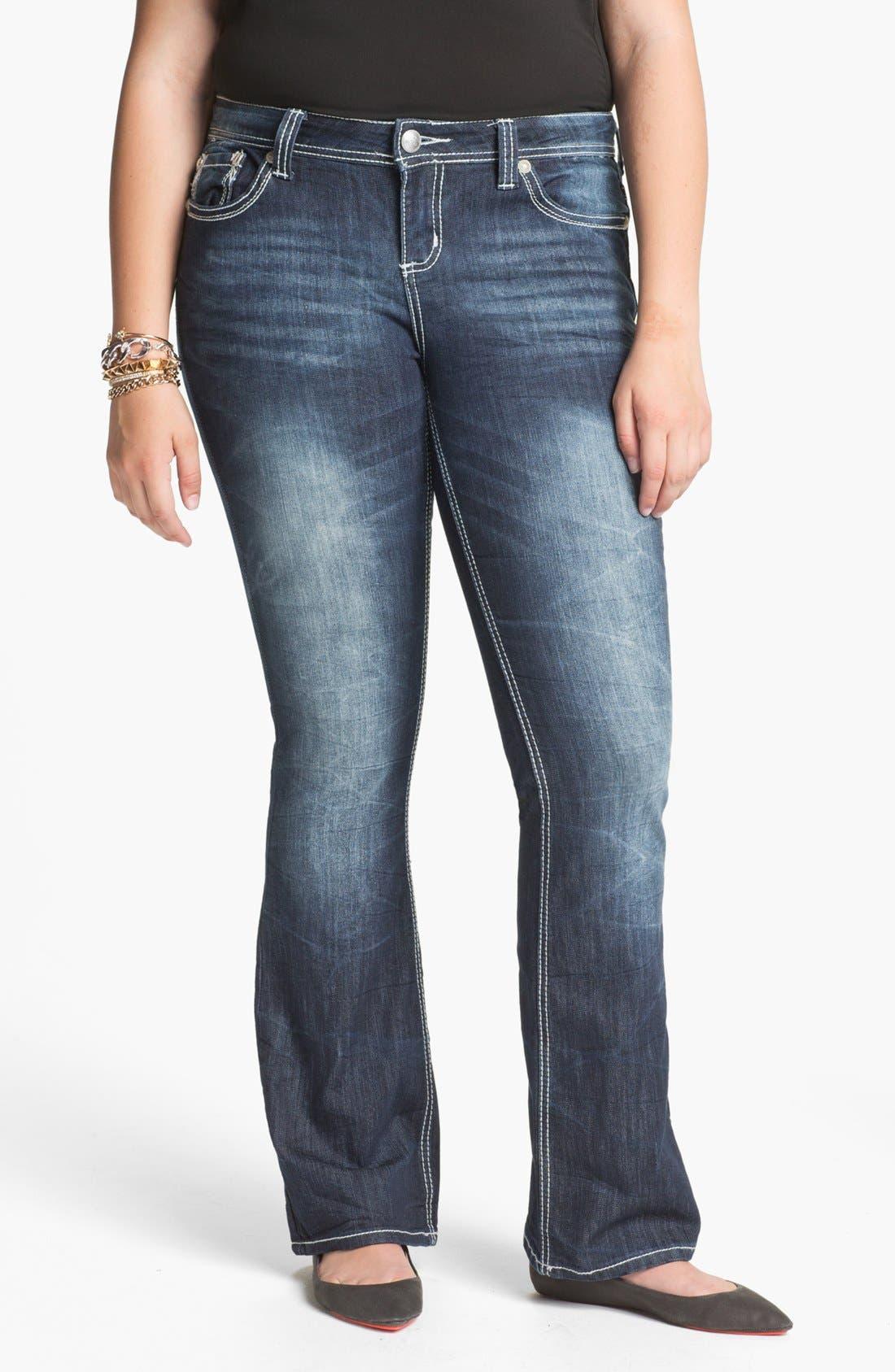 Main Image - ZCO Bootcut Jeans (Juniors Plus)