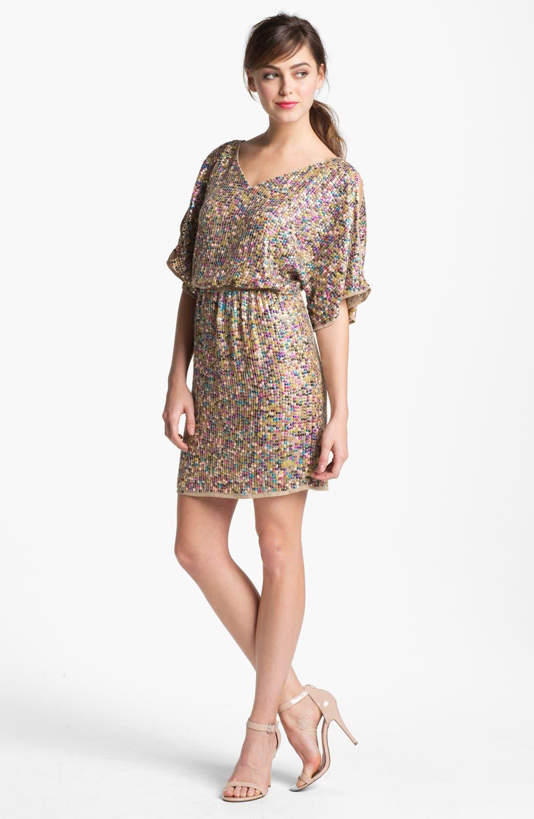 Main Image - Trina Turk 'Vega' Blouson Sequin Dress