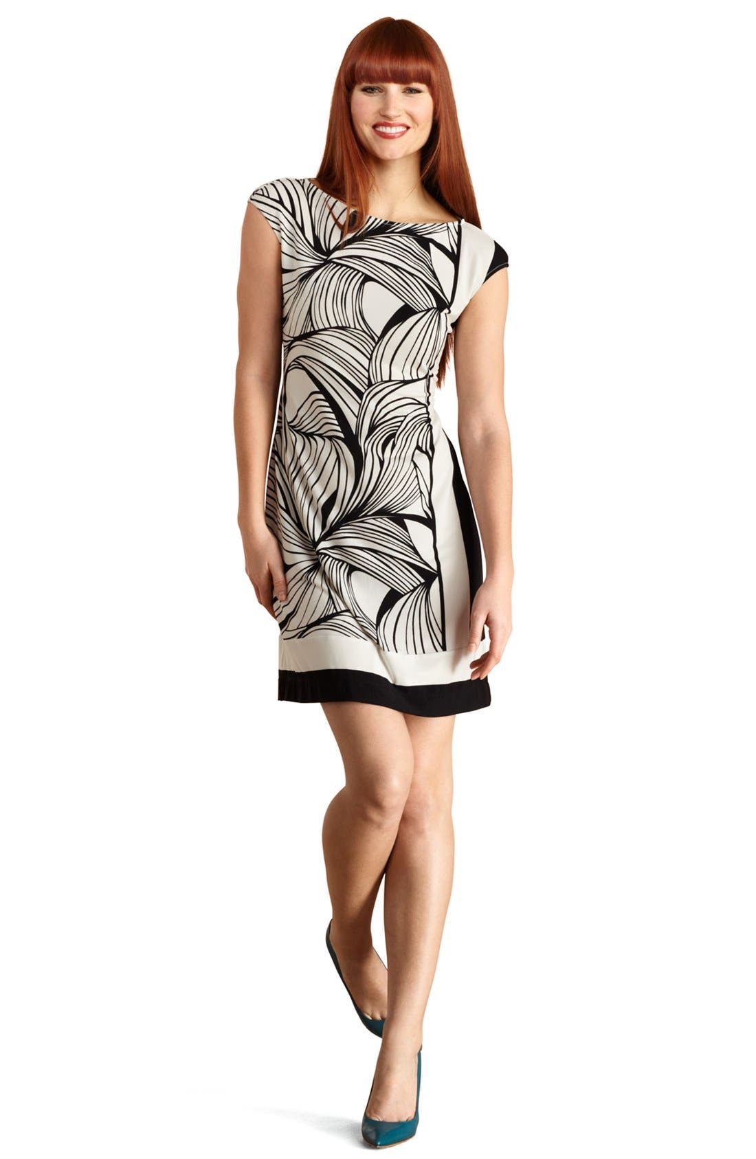 Alternate Image 1 Selected - Donna Morgan Print Jersey Shift Dress
