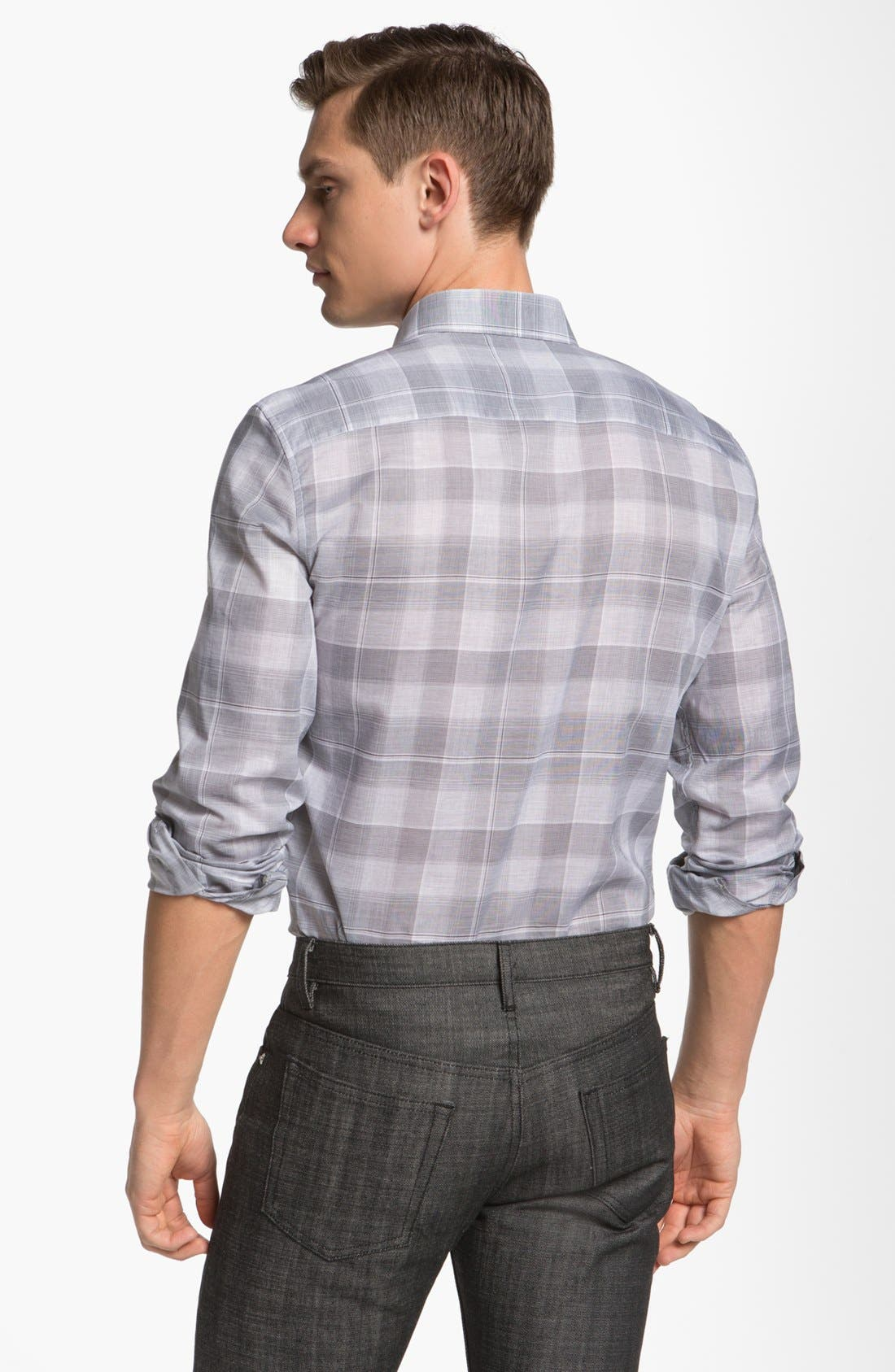 Alternate Image 2  - Z Zegna 'Zephir' Check Cotton Sport Shirt