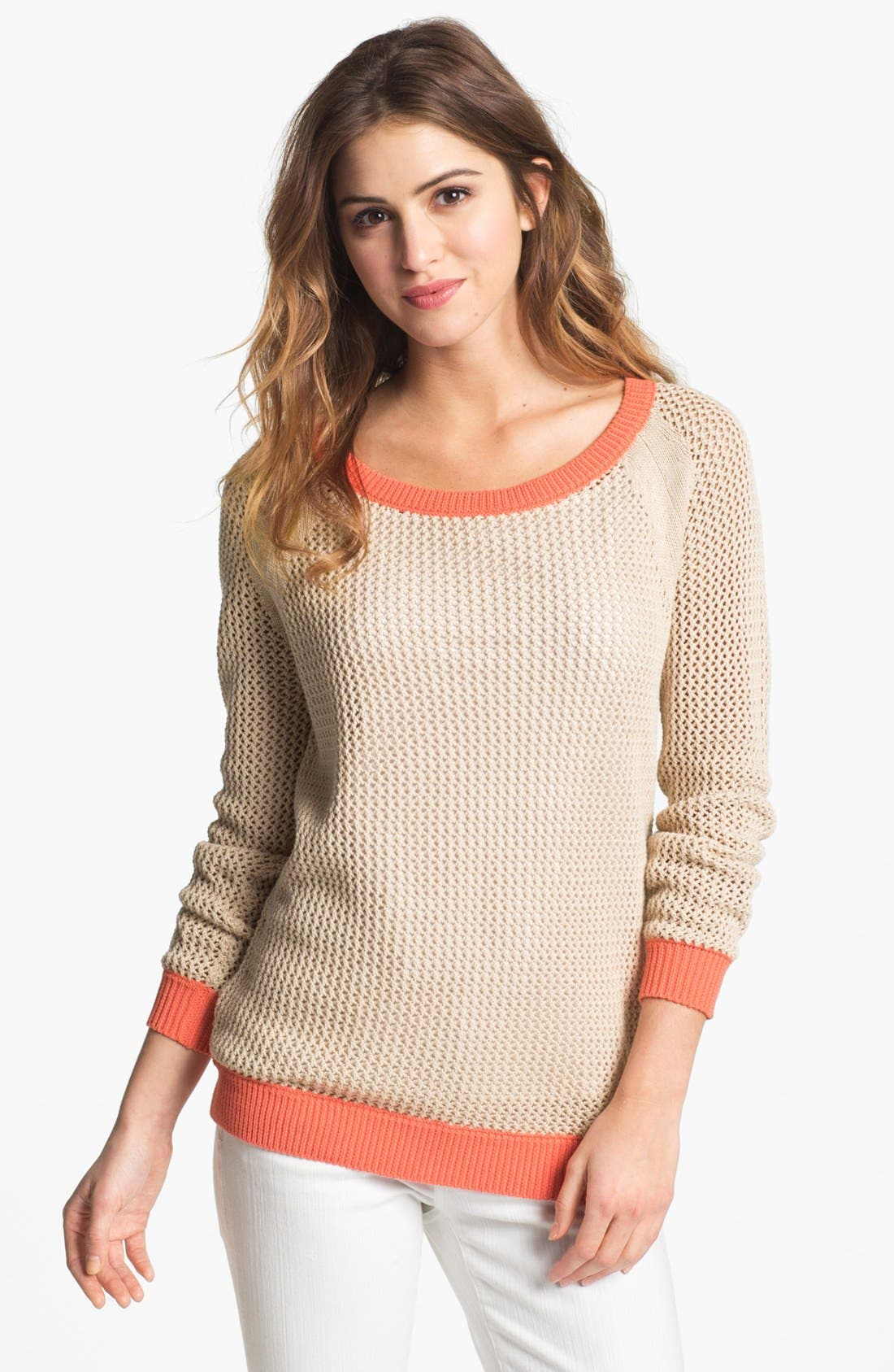 Alternate Image 1 Selected - Two by Vince Camuto Two Tone Sweater