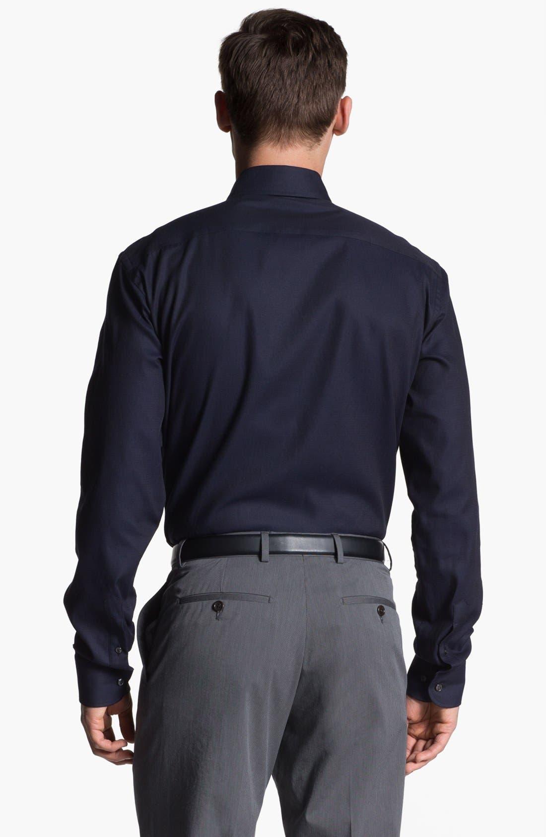 Alternate Image 2  - Armani Collezioni Trim Fit Cotton Dress Shirt