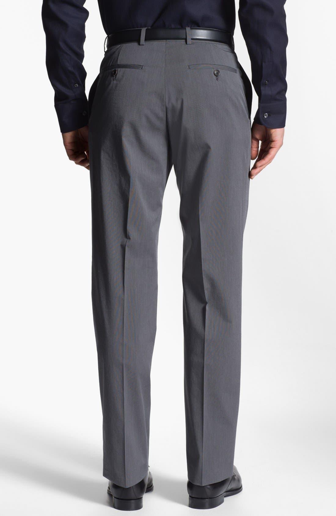 Alternate Image 2  - Armani Collezioni Stretch Flat Front Trousers