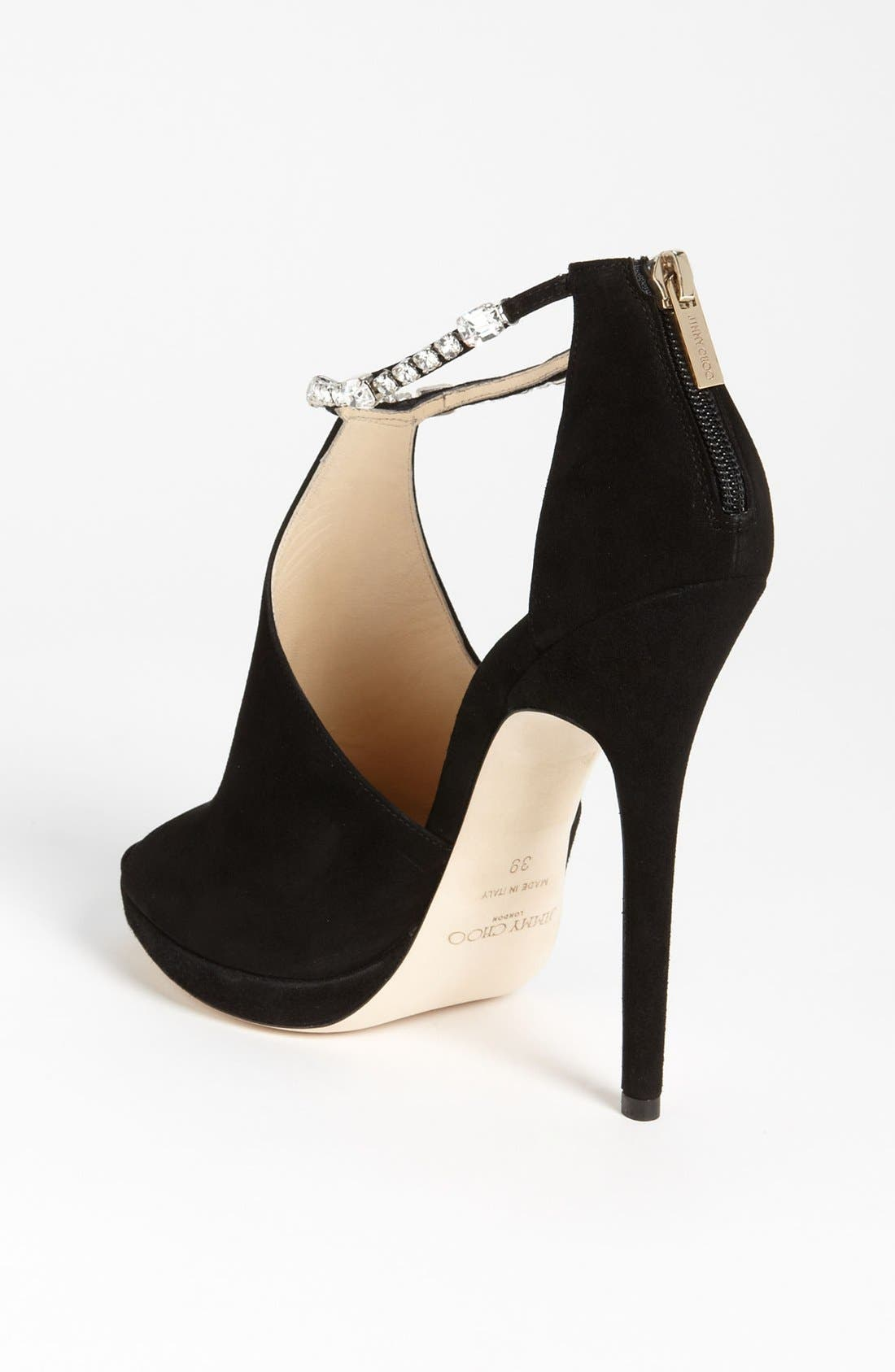 Alternate Image 2  - Jimmy Choo Crystral Strap Bootie