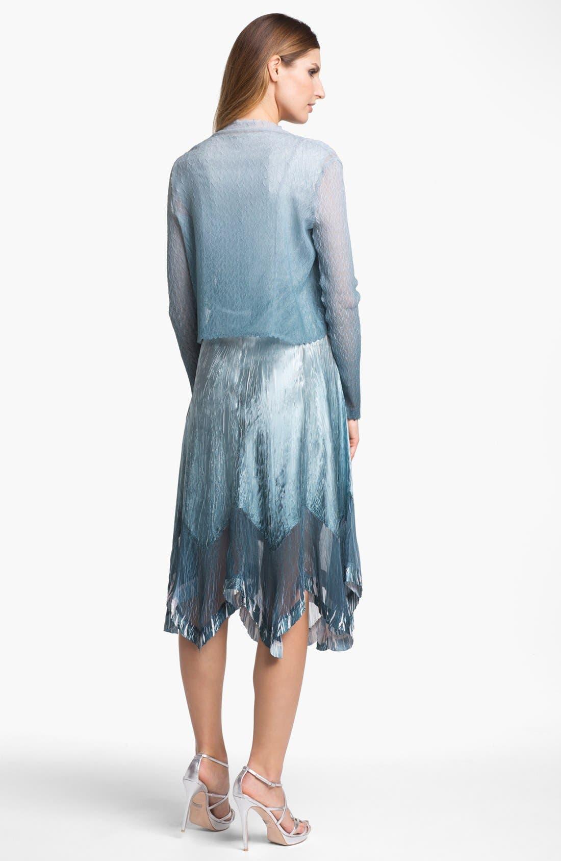 Alternate Image 2  - Komarov Textured Ombré Chiffon Dress & Jacket