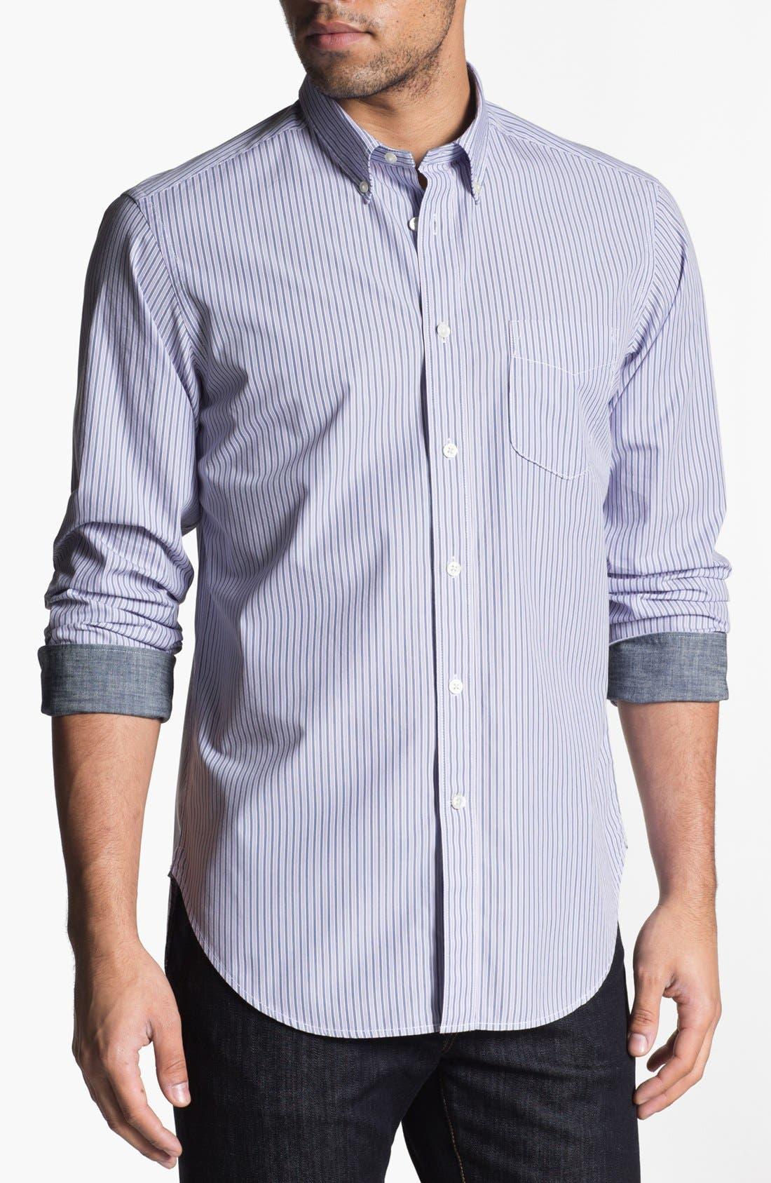 Alternate Image 1 Selected - Façonnable Tailored Denim Sport Shirt