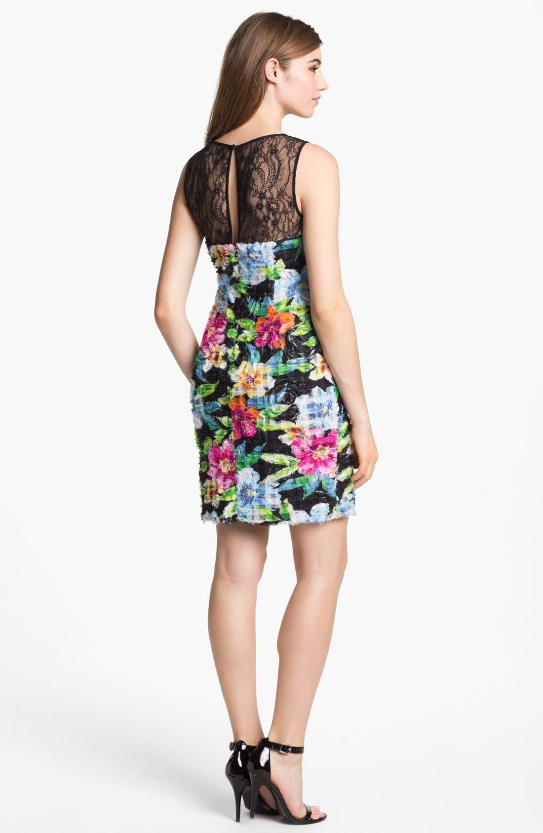 Alternate Image 2  - Aidan Mattox Floral Print Sheath Dress