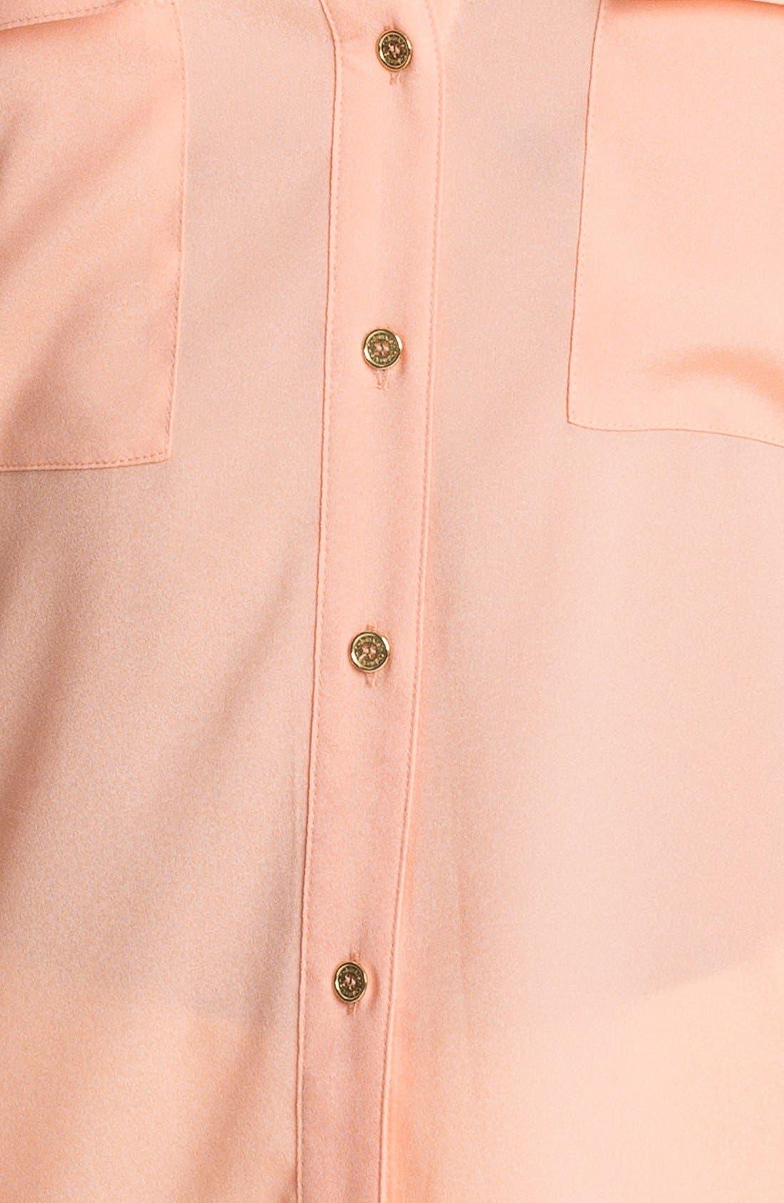 Alternate Image 3  - Calvin Klein Roll Sleeve Blouse