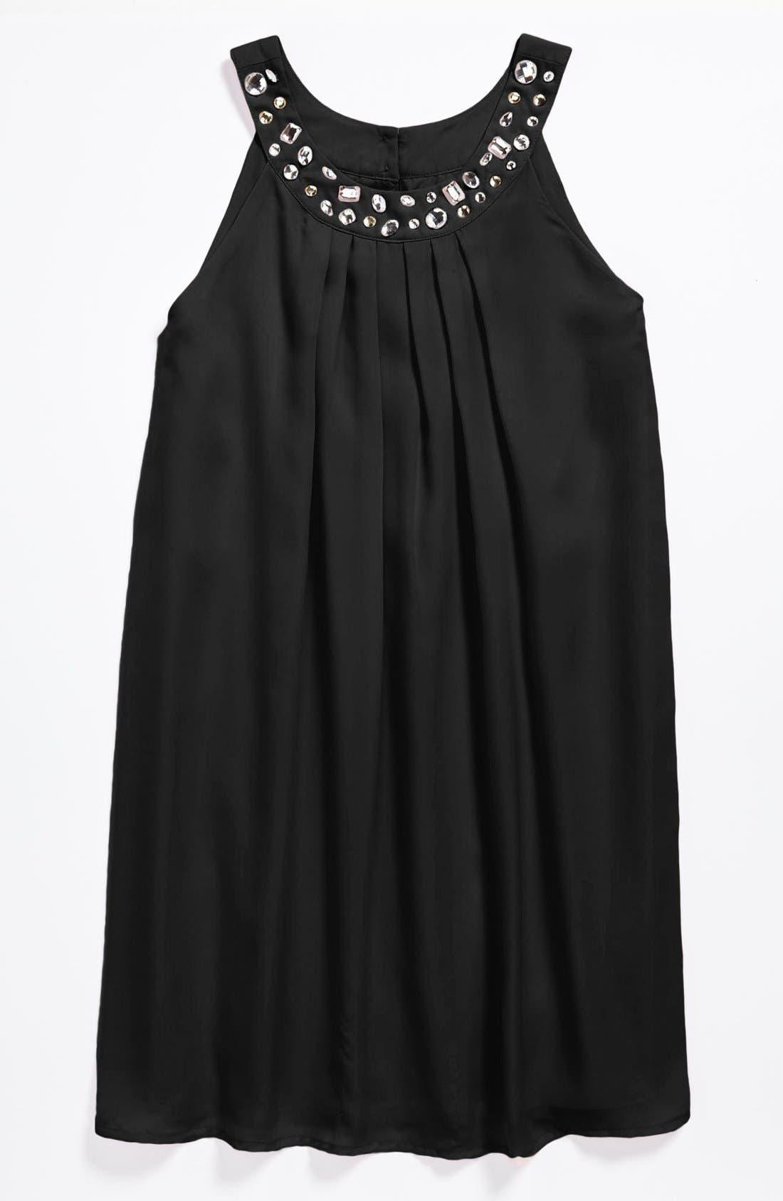 Main Image - BLUSH by Us Angels Chiffon Trapeze Dress (Big Girls)