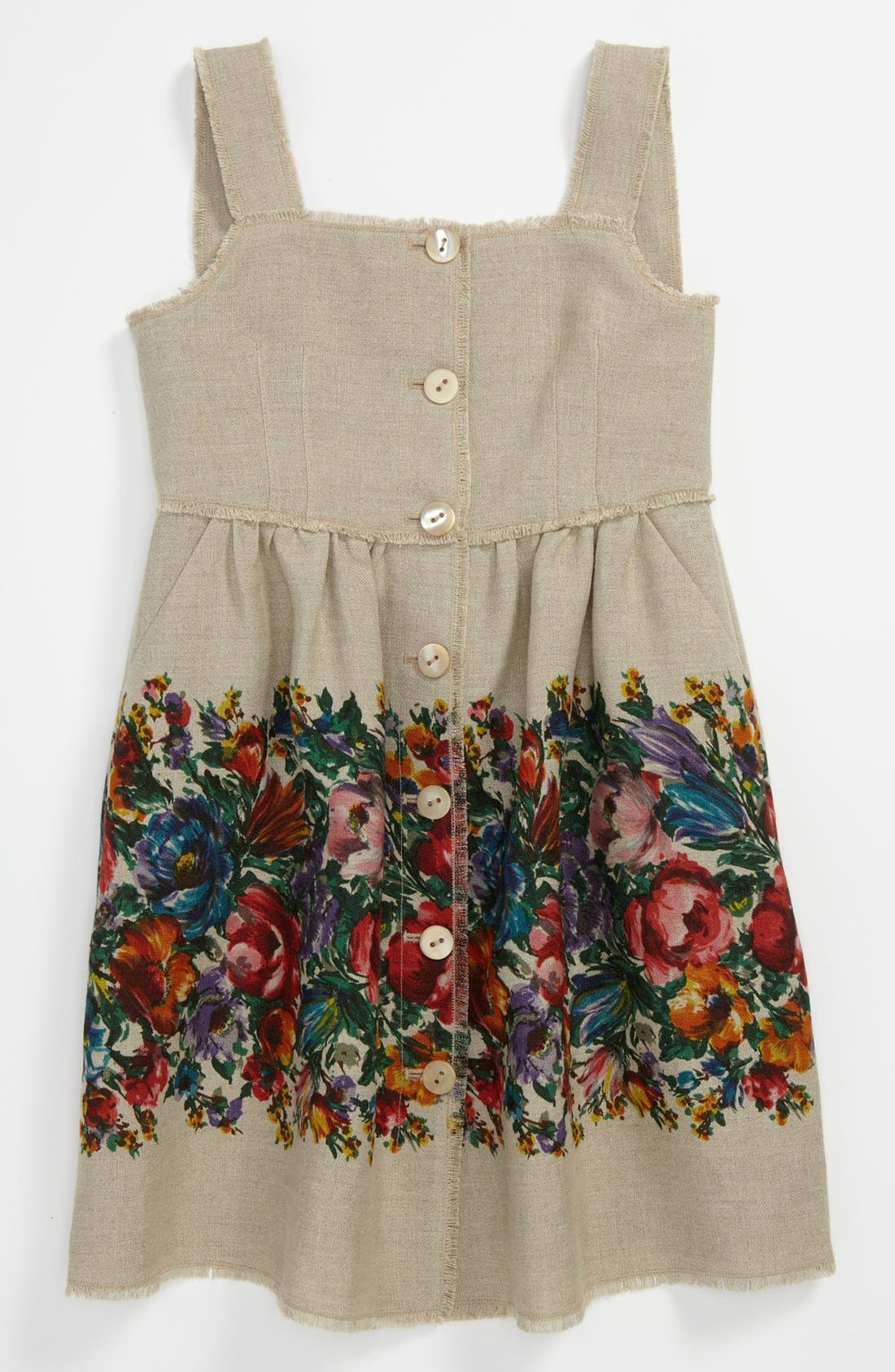 Main Image - Dolce&Gabbana 'Fiori Colonna' Dress (Little Girls & Big Girls)