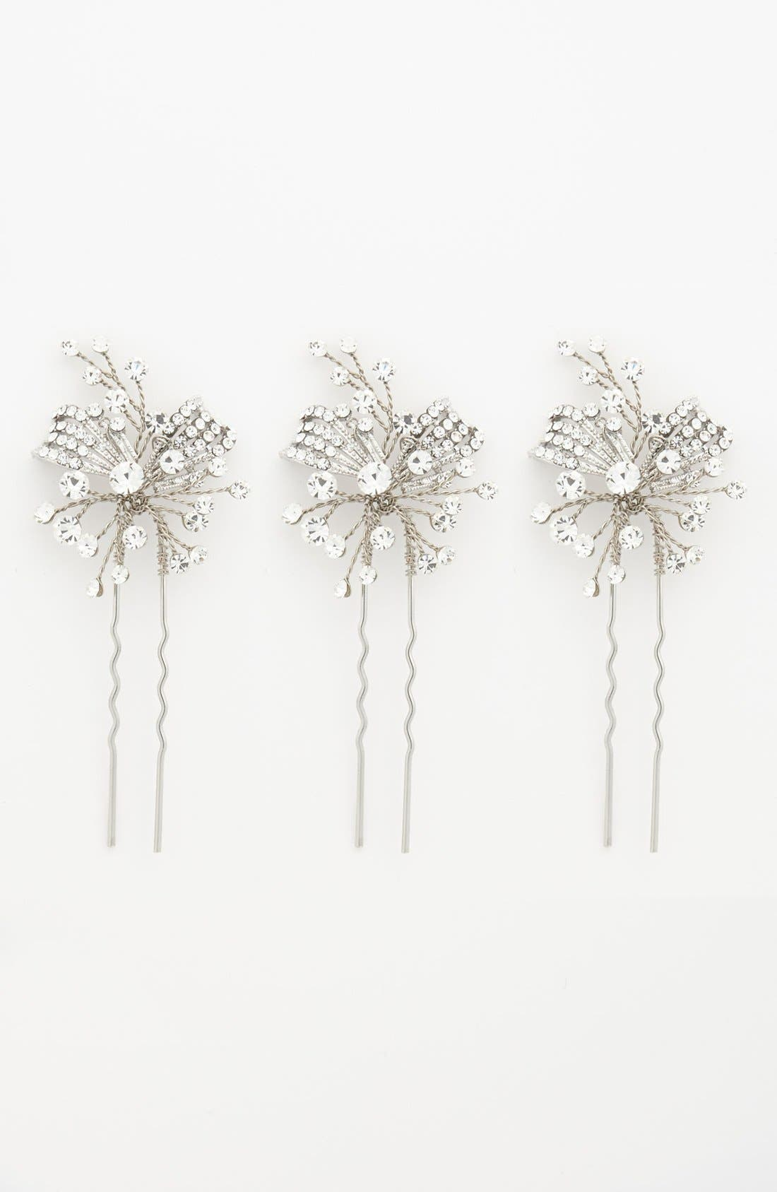 Alternate Image 2  - Nina 'Gwenyth' Crystal Hairpins (Three-Pack)