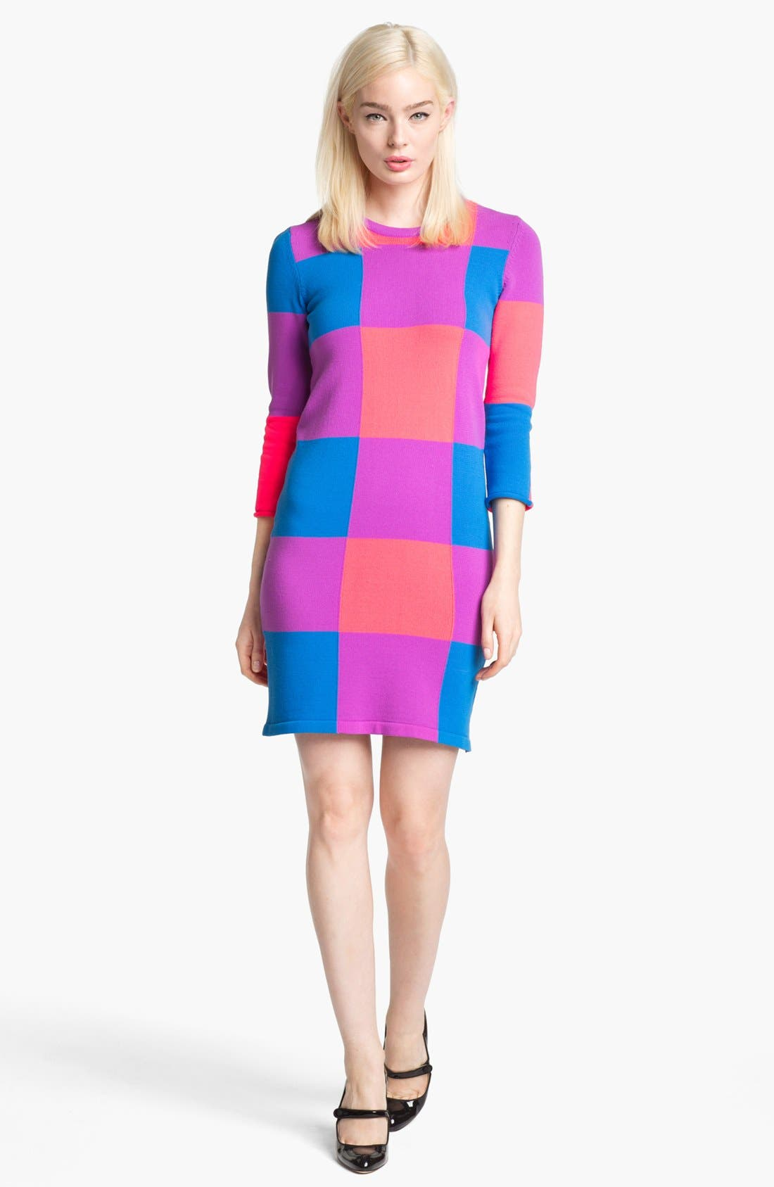 Alternate Image 1 Selected - MARC BY MARC JACOBS 'Elise' Colorblock Sweater Dress