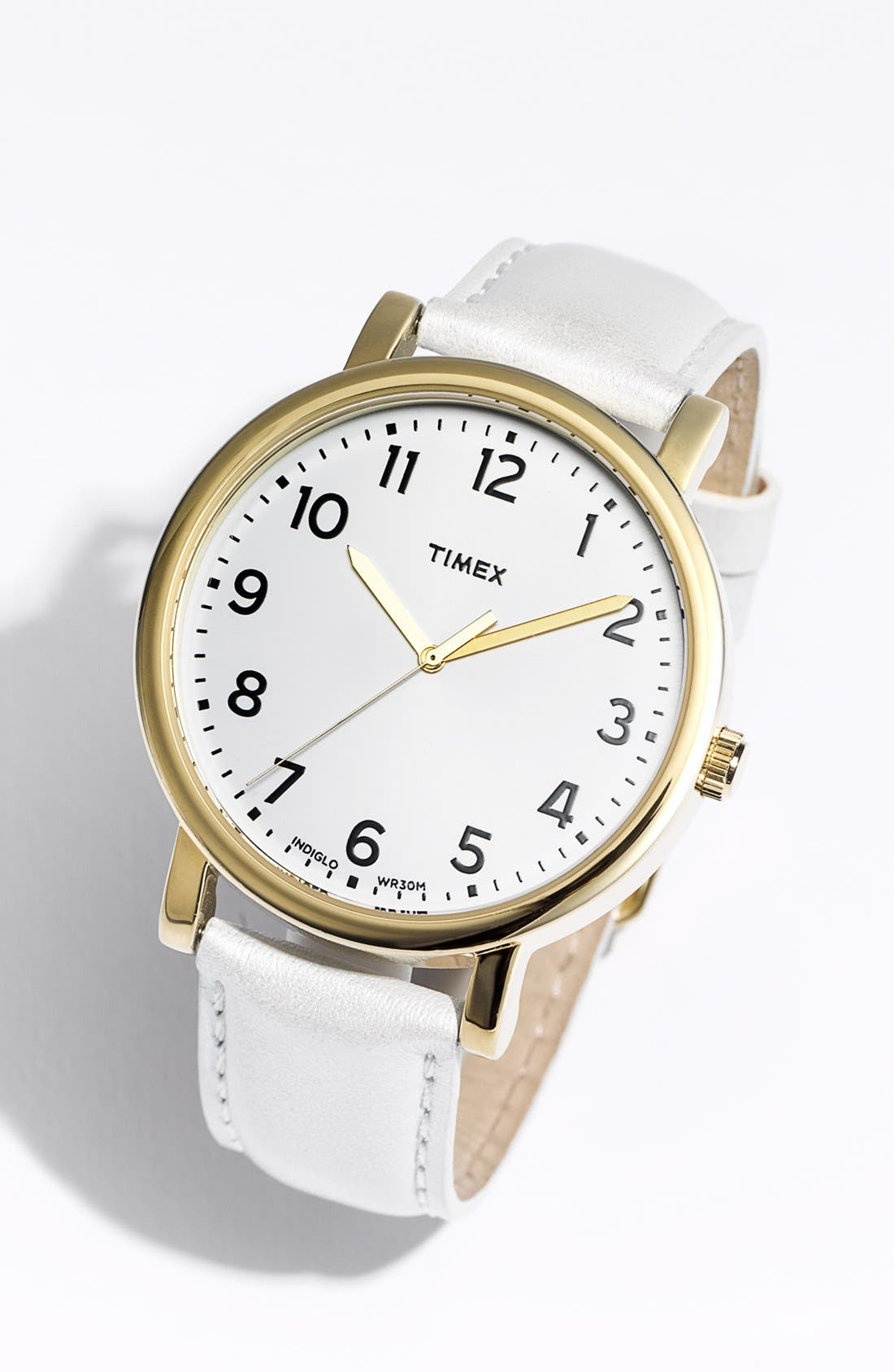 Alternate Image 2  - Timex® 'Easy Reader' Leather Strap Watch, 42mm