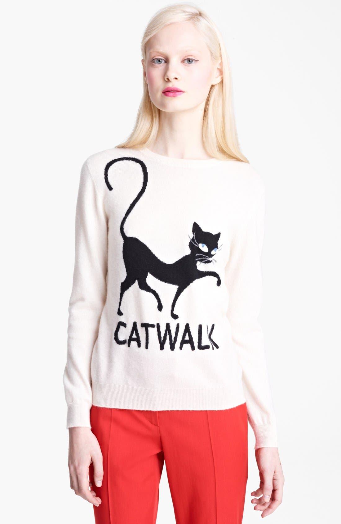 Main Image - Moschino Cheap & Chic 'Catwalk' Cashmere Sweater