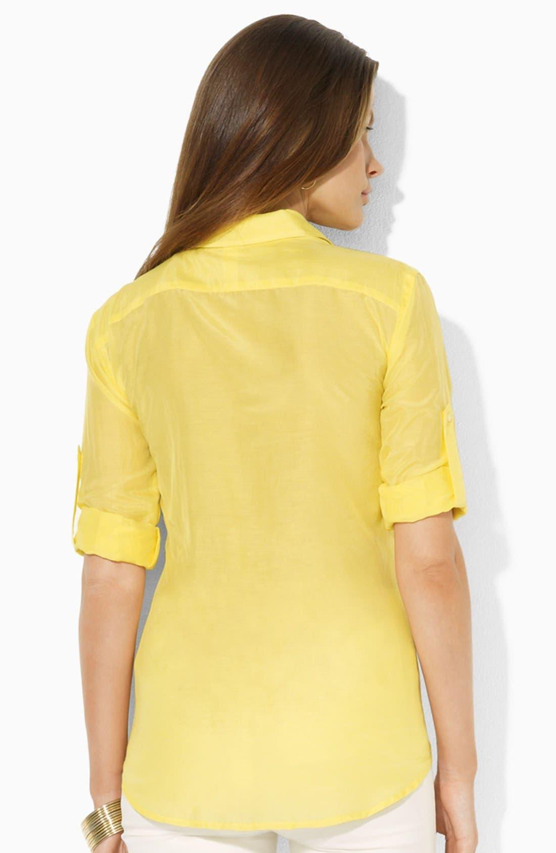 Alternate Image 2  - Lauren Ralph Lauren Cotton Work Shirt