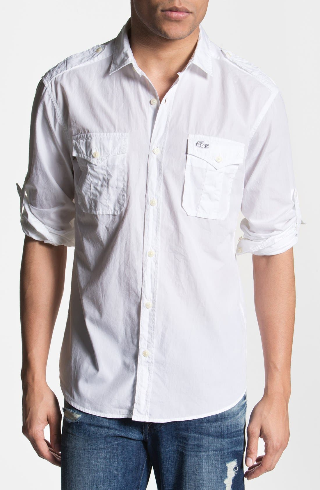Alternate Image 1 Selected - Lacoste Slim Fit Sport Shirt