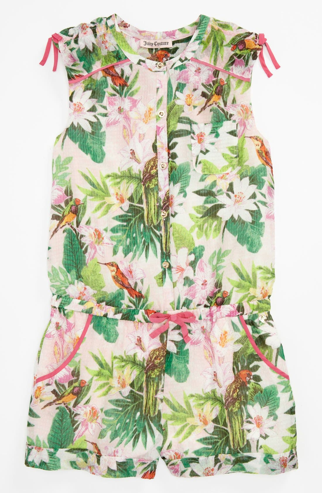 Alternate Image 1 Selected - Juicy Couture 'Birds of Paradise' Romper (Little Girls & Big Girls)