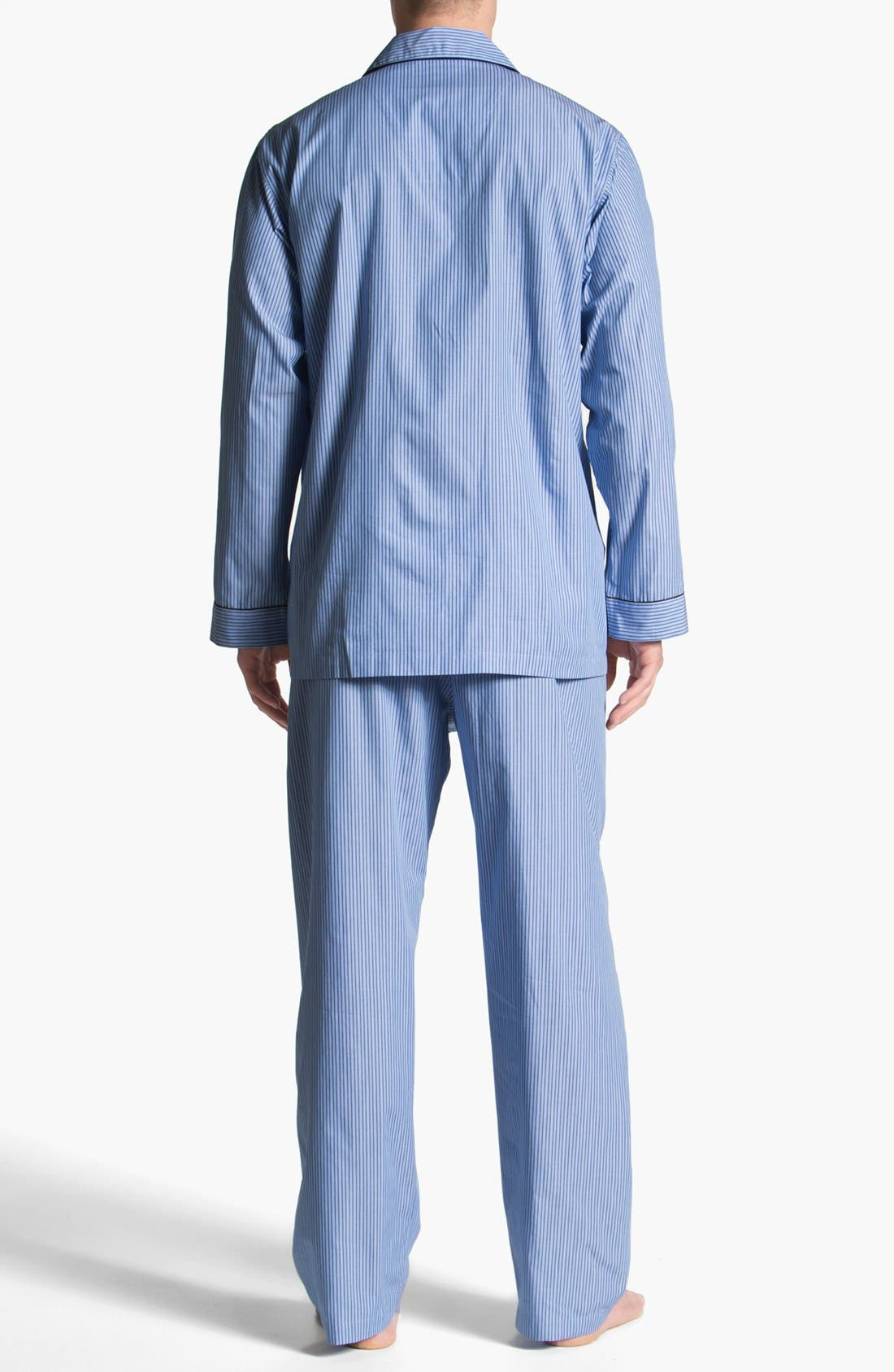 Alternate Image 2  - Brooks Brothers Cotton Pajamas