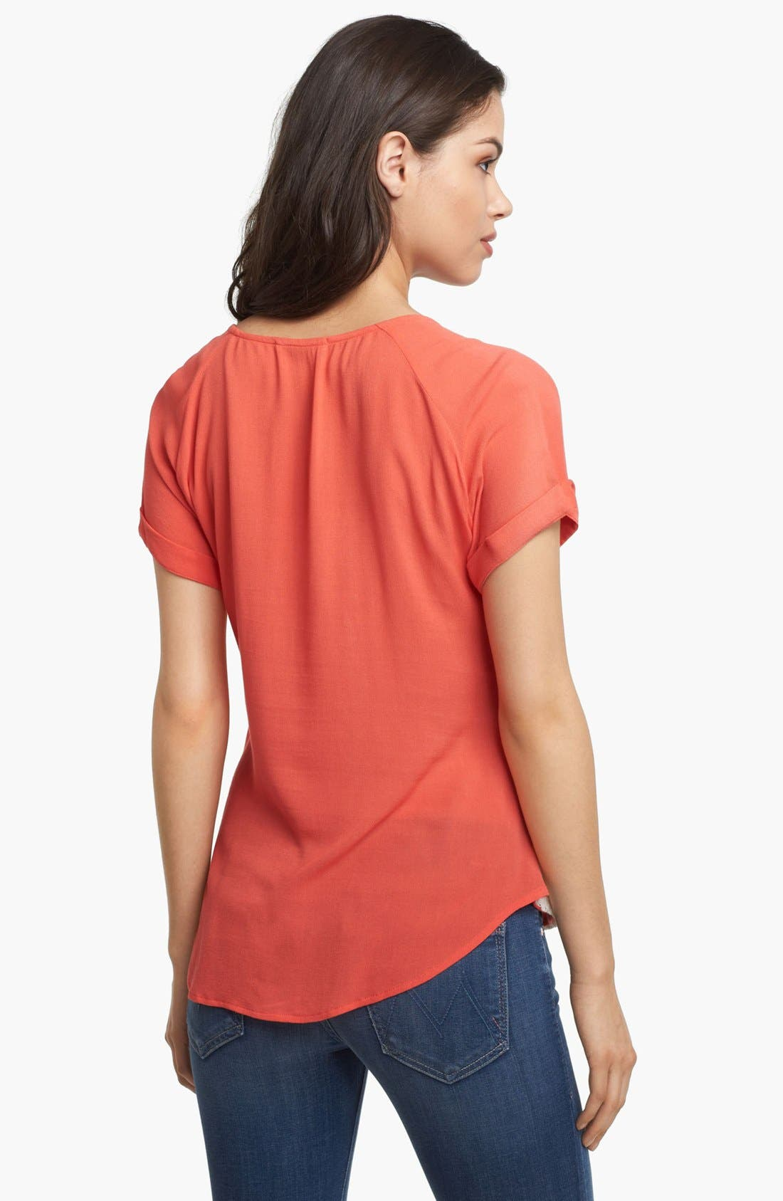 Alternate Image 2  - Ella Moss Lace Front Tee