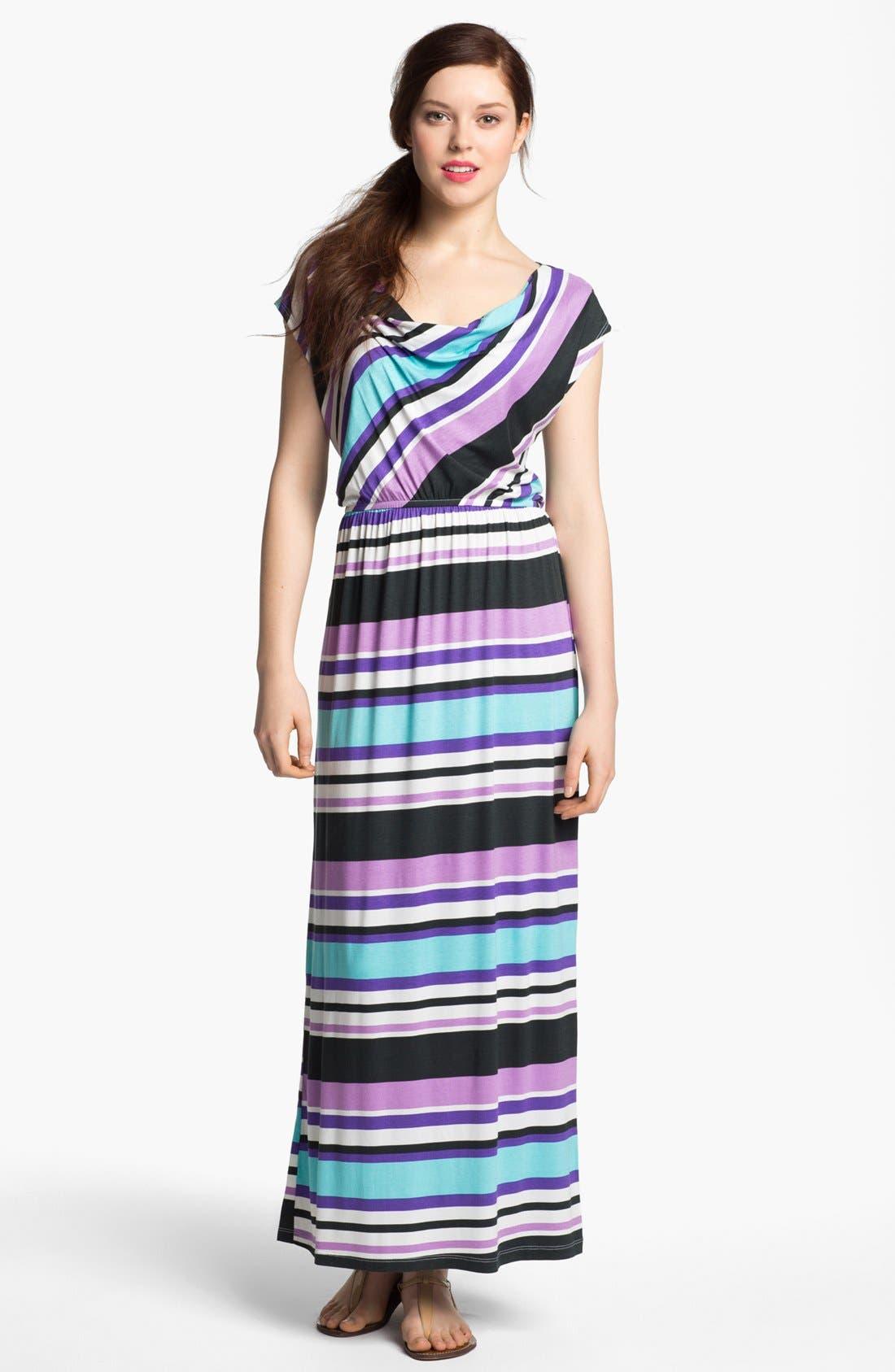 Alternate Image 1 Selected - Bobeau Drape Neck Maxi Dress