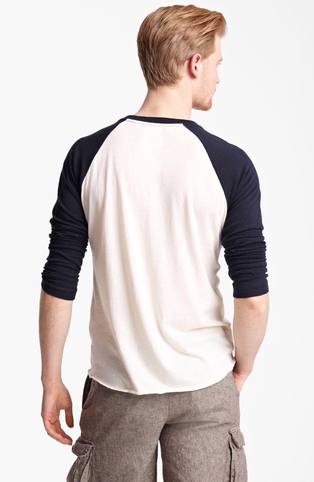 Alternate Image 2  - Billy Reid Pima Cotton Cashmere Baseball T-Shirt