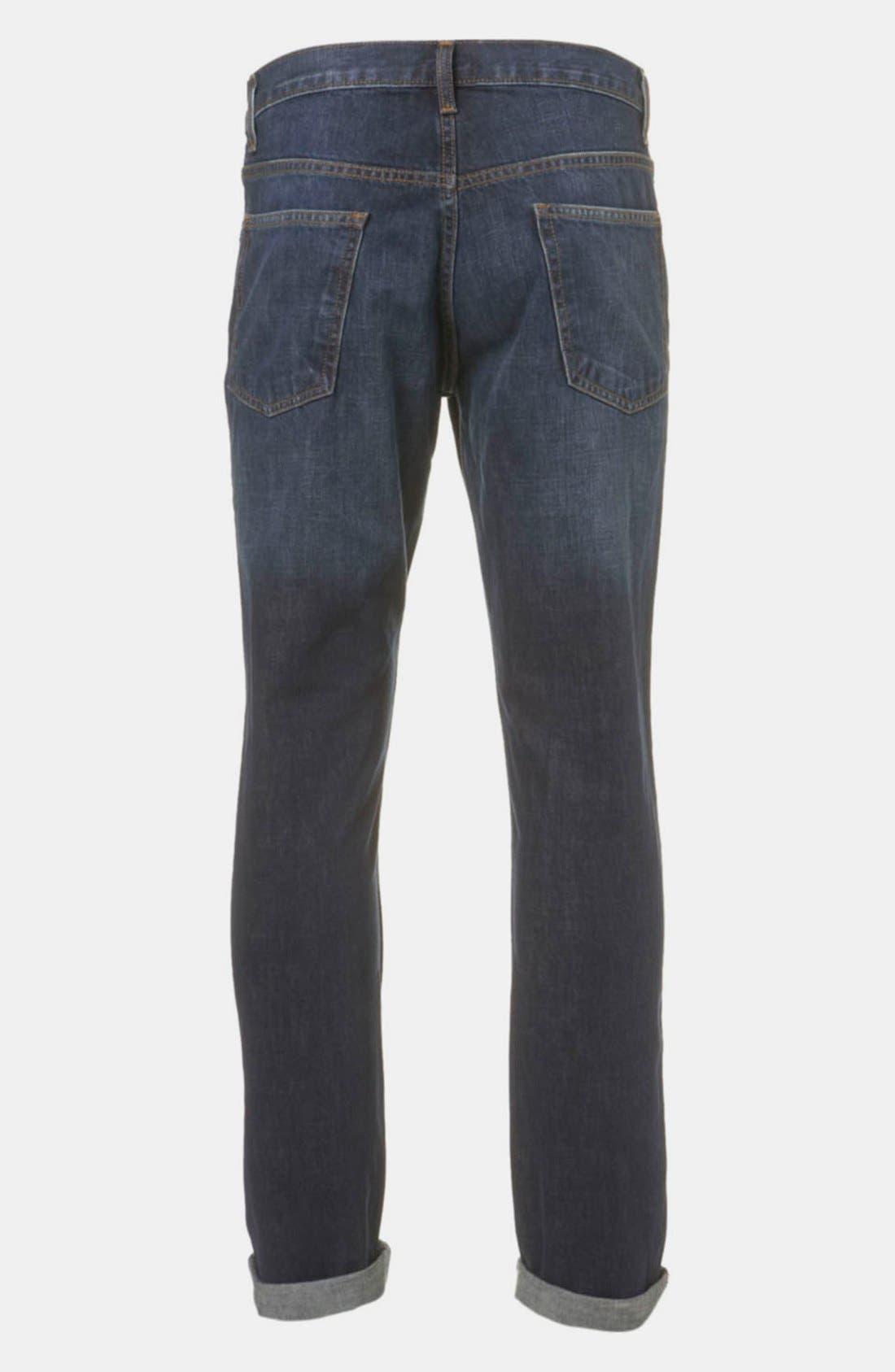 Alternate Image 2  - Topman Slim Fit Jeans (Blue)