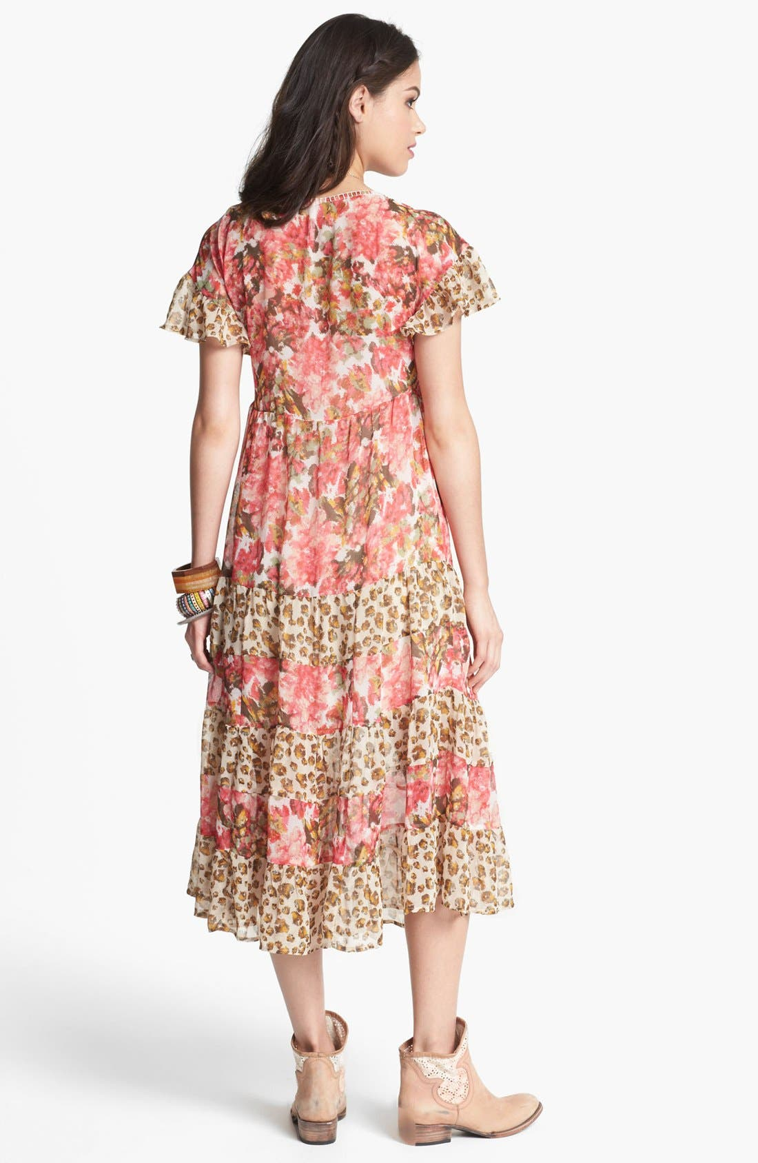 Alternate Image 2  - Free People 'Flower Dream' Twin Print Tiered Dress