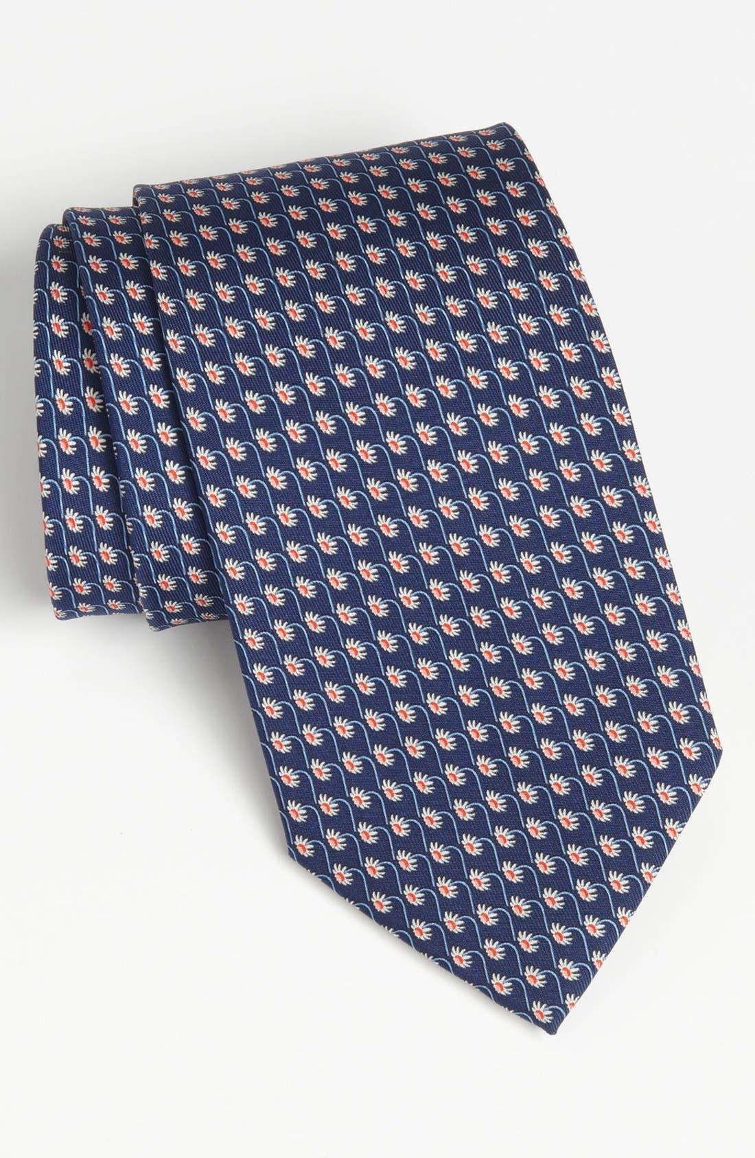 Alternate Image 1 Selected - Salvatore Ferragamo Floral Print Silk Tie