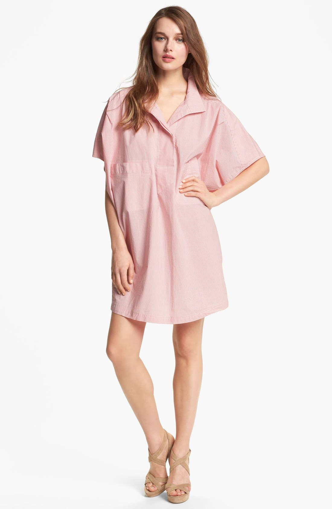 Alternate Image 1 Selected - MARC BY MARC JACOBS 'Jasper' Stripe Cotton Shirtdress