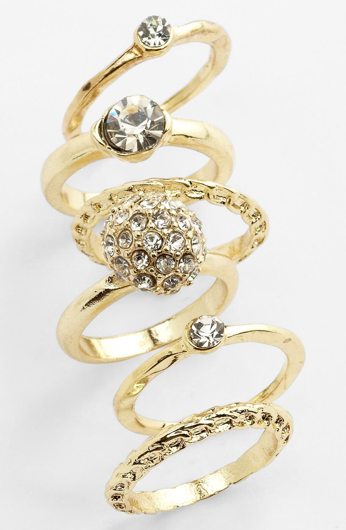 Main Image - Carole Stackable Rings (Set of 6)