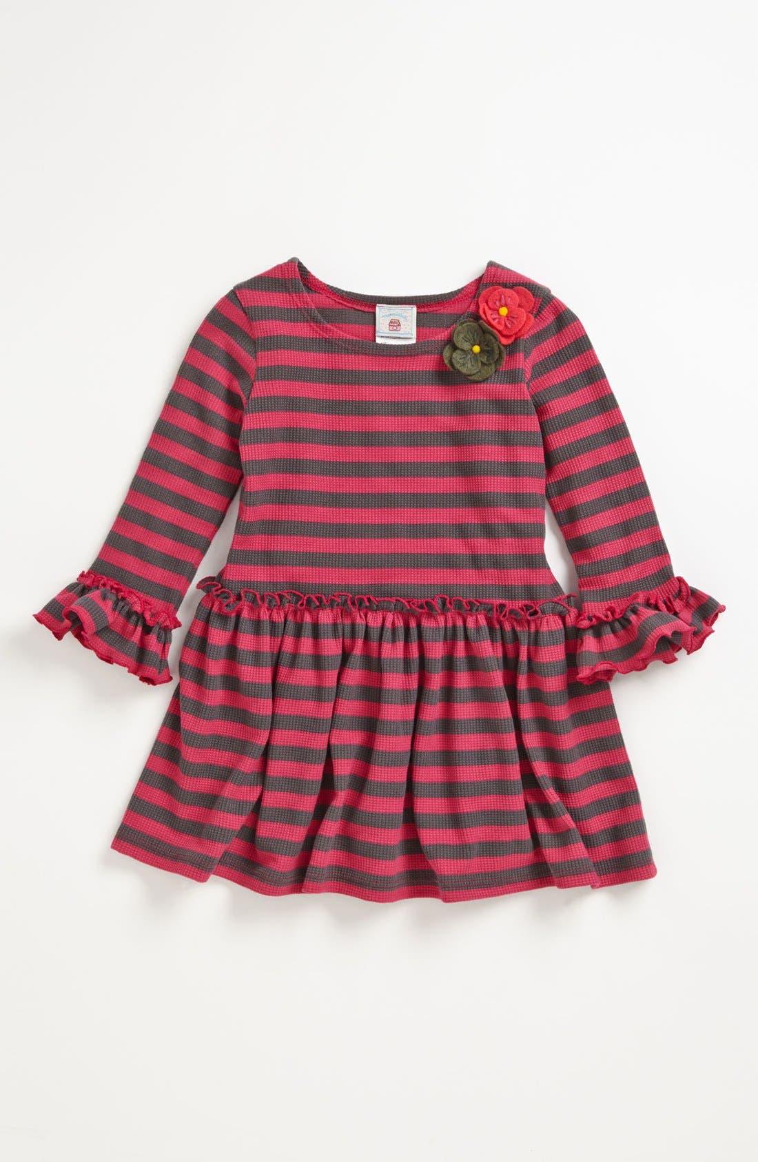 Main Image - Pippa & Julie Thermal Stripe Dress (Toddler Girls)
