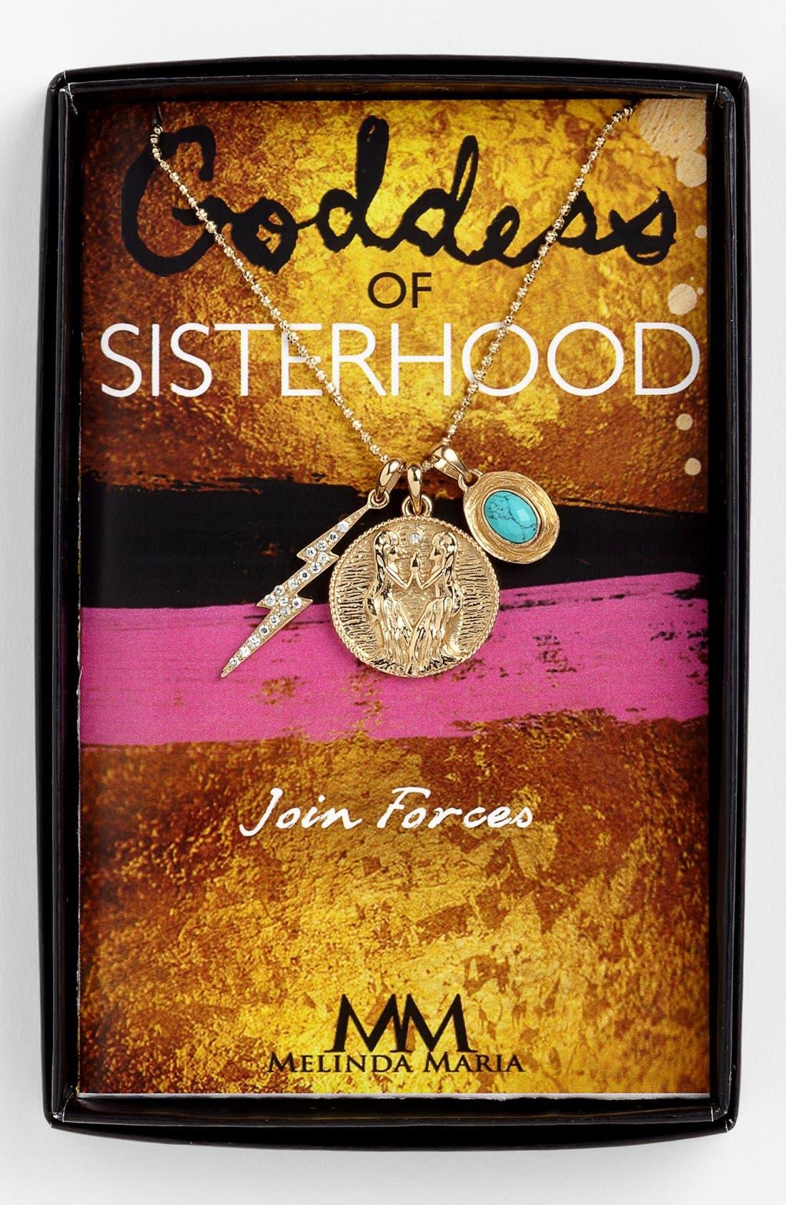 Main Image - Melinda Maria 'Goddess of Sisterhood' Cluster Pendant Necklace