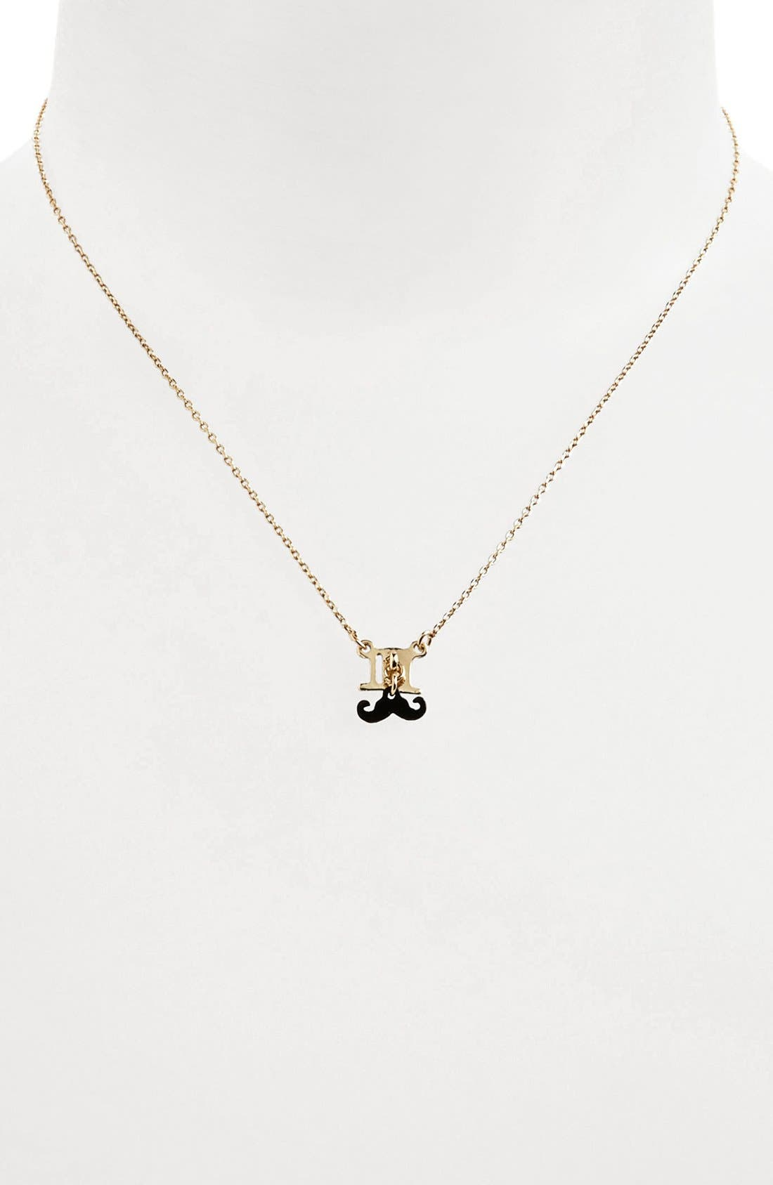 Alternate Image 1 Selected - Topshop 'Top Hat Moustache' Necklace