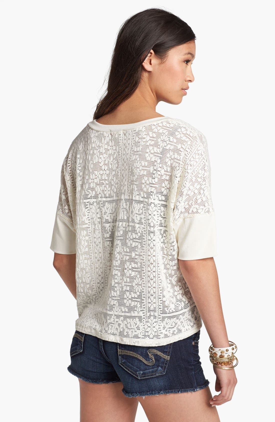Alternate Image 2  - Lily White Crochet Top (Juniors)