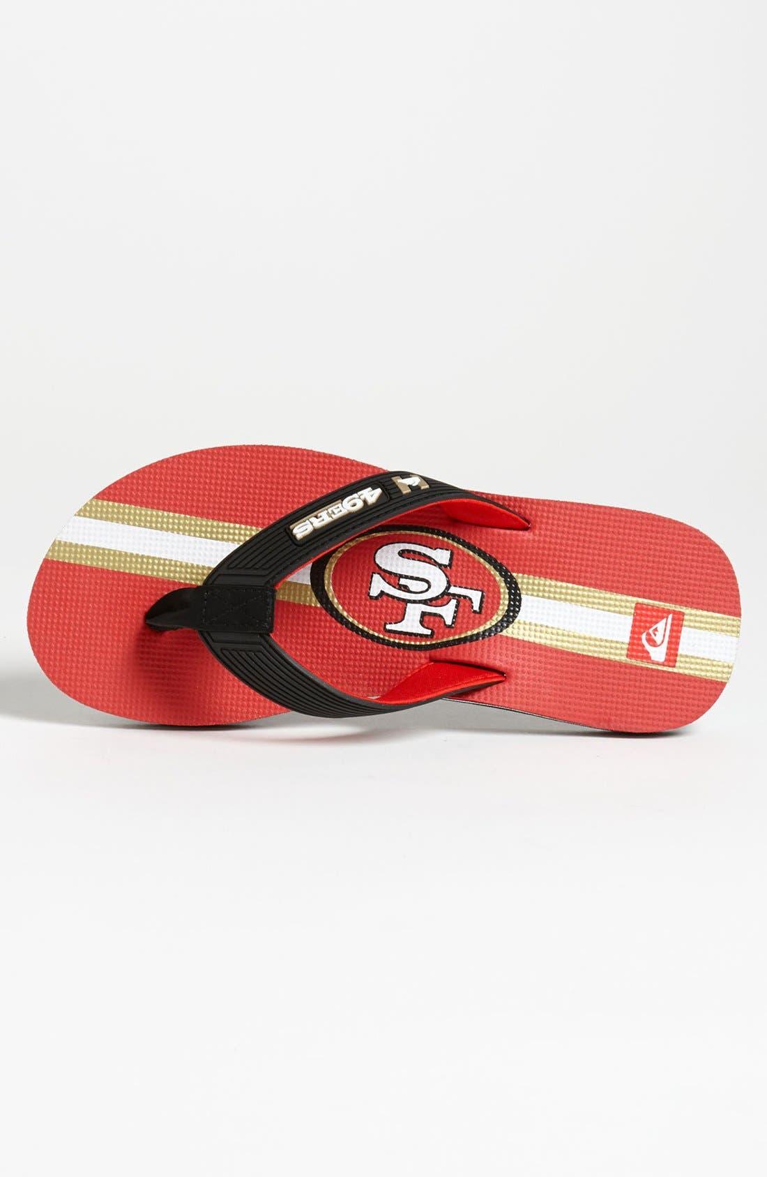 Alternate Image 3  - Quiksilver 'NFL' Flip Flop (Men)