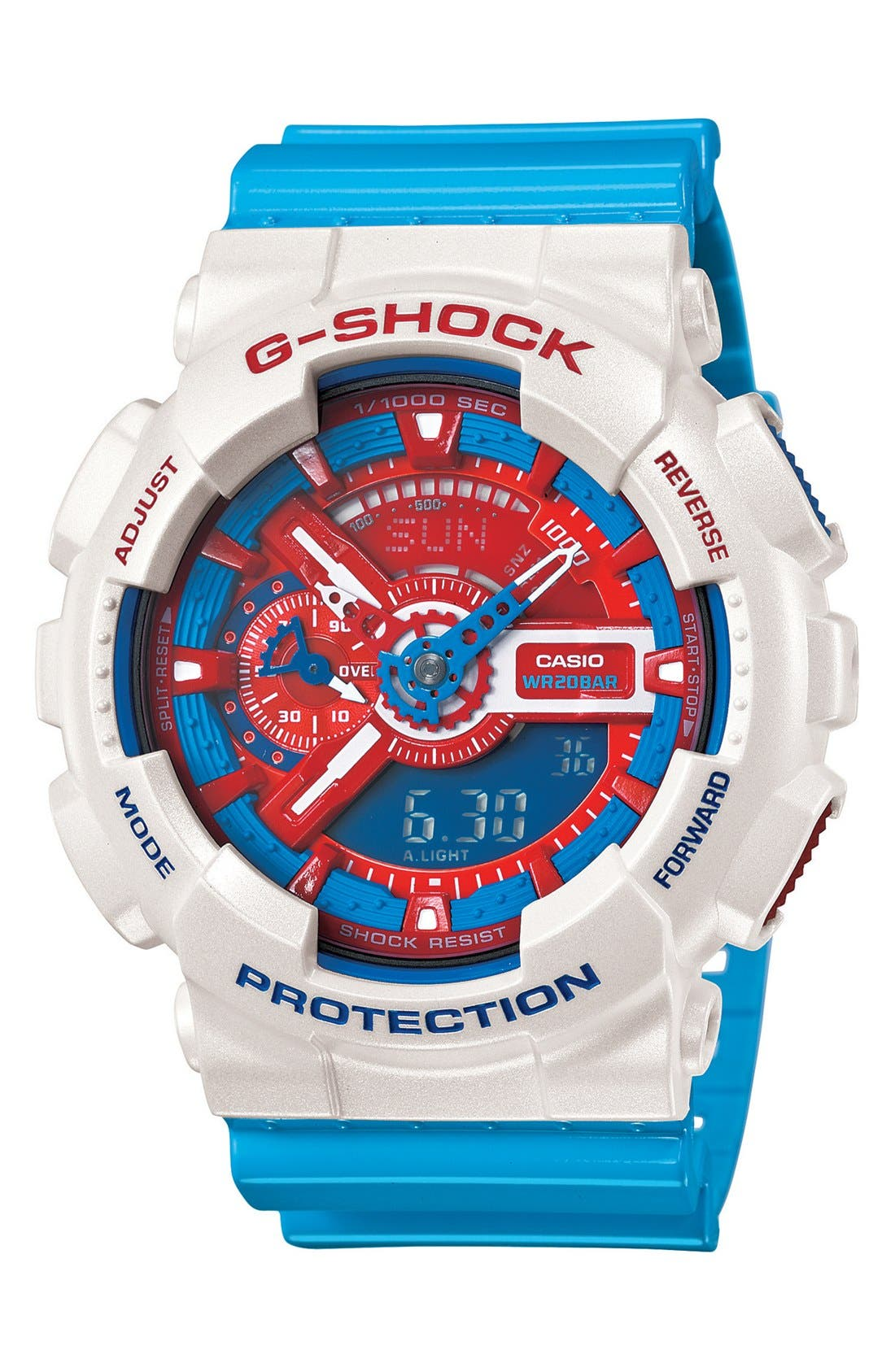 Alternate Image 1 Selected - G-Shock 'X-Large' Dual Movement Watch, 55mm x 51mm