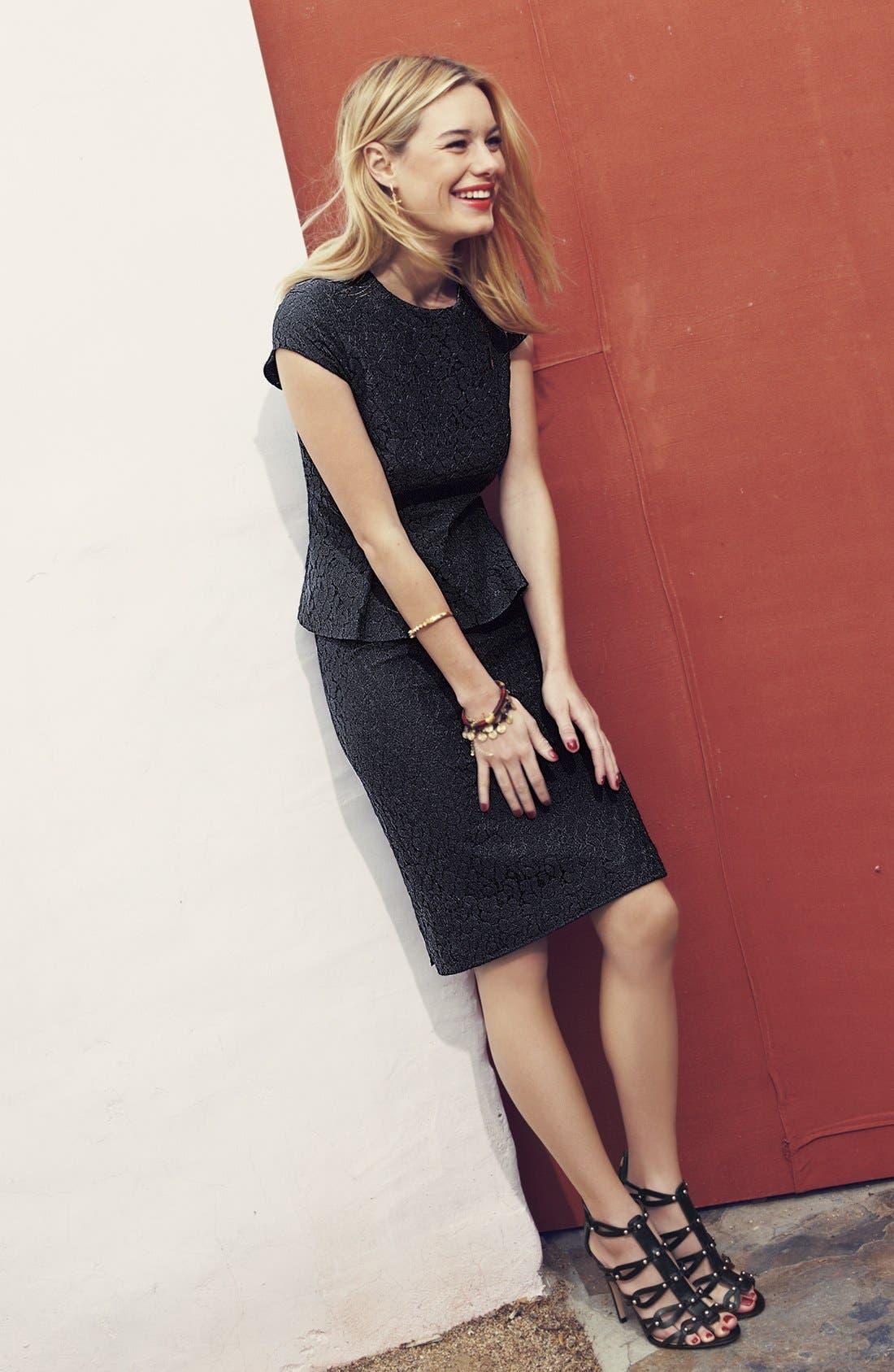 Alternate Image 6  - Halogen® Lace Pencil Skirt