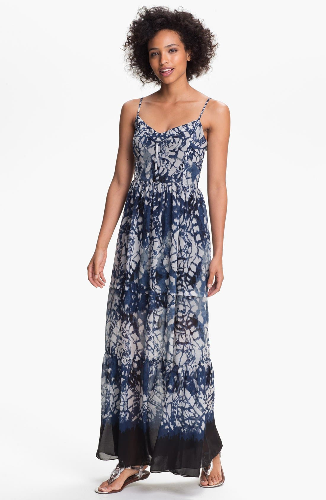 Main Image - Betsey Johnson Print Maxi Dress
