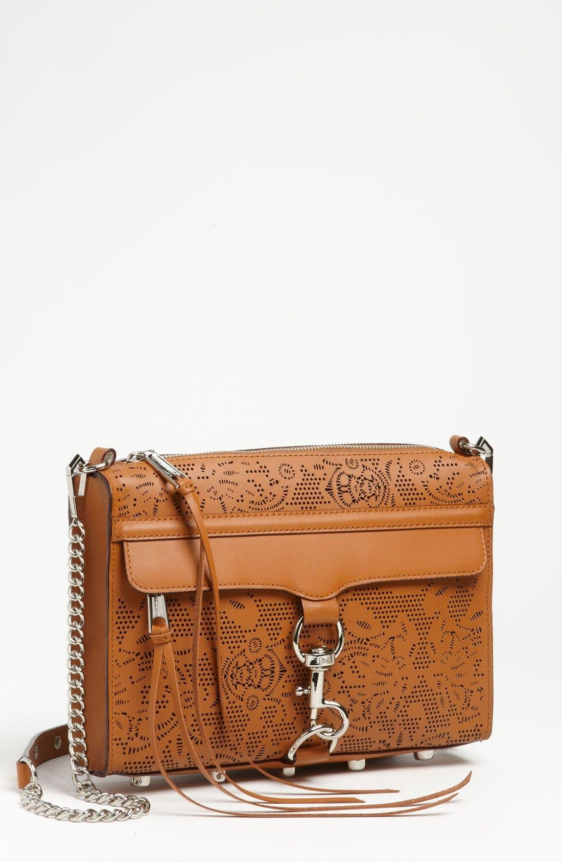 Main Image - Rebecca Minkoff 'Lasercut MAC' Leather Crossbody Clutch