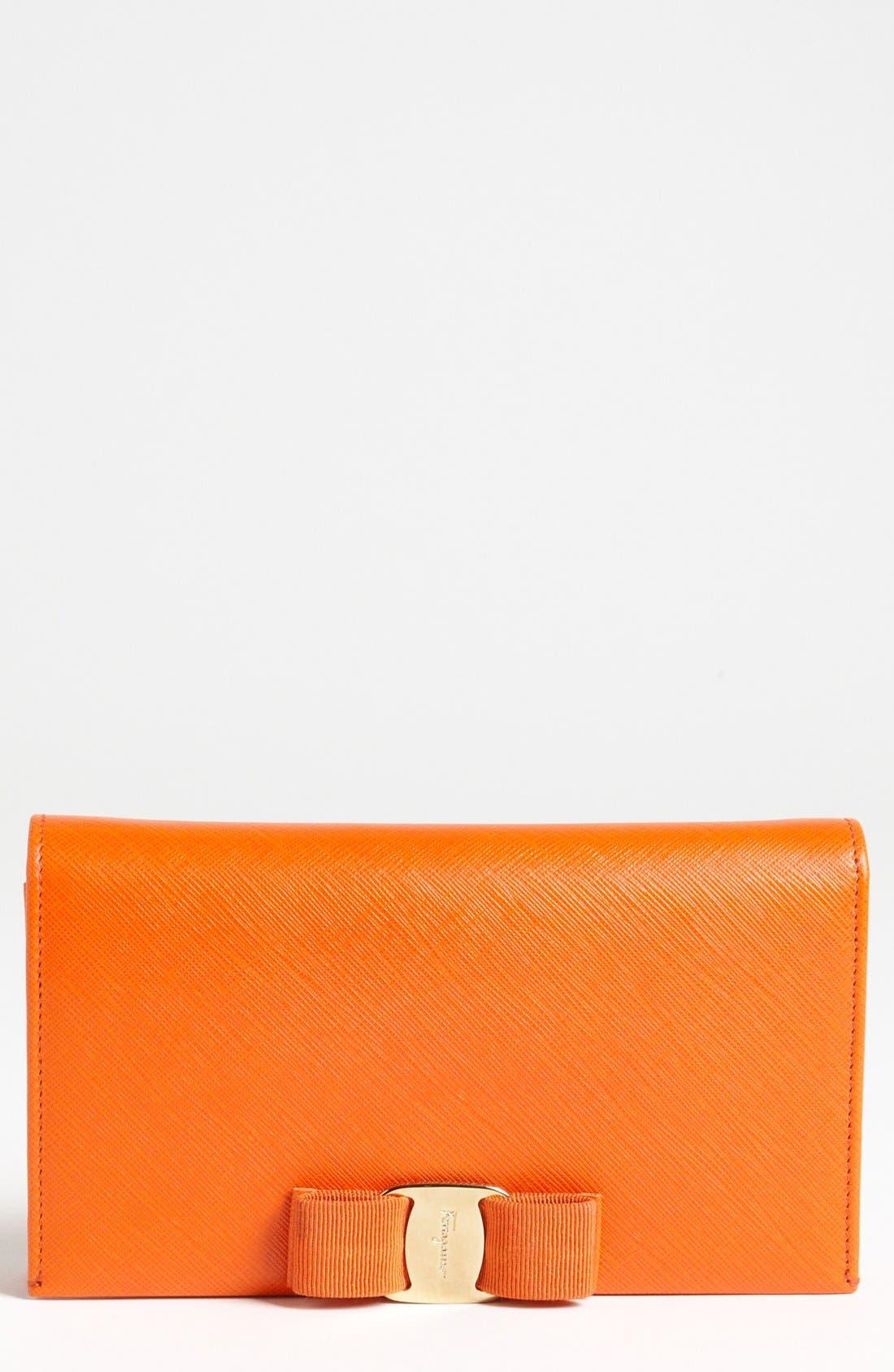 Main Image - Salavatore Ferragamo 'Miss Vara' Leather Wallet on a Chain