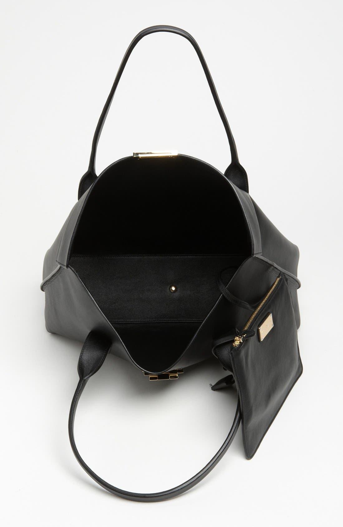 Alternate Image 3  - Salvatore Ferragamo 'Large Sookie' Leather Shopper