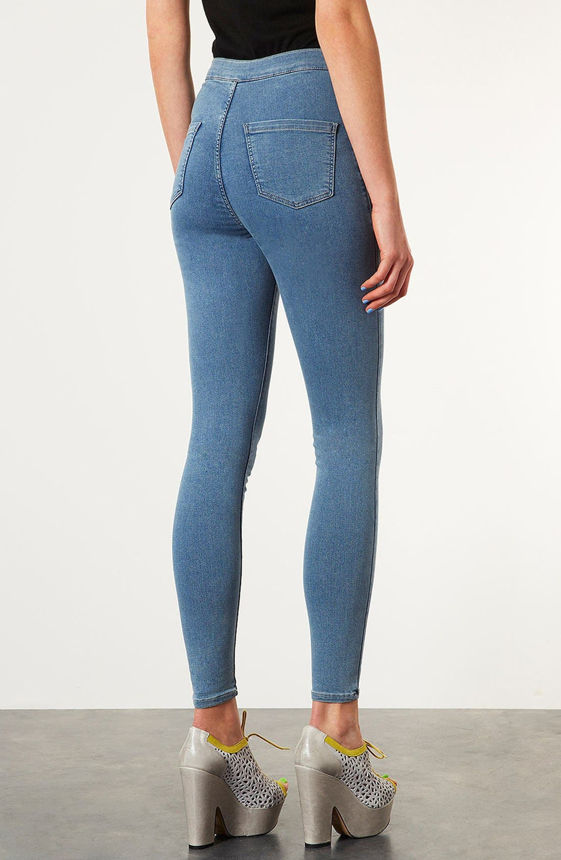 Alternate Image 2  - Topshop Moto 'Vintage Joni' High Rise Skinny Crop Jeans (Mid Stone)