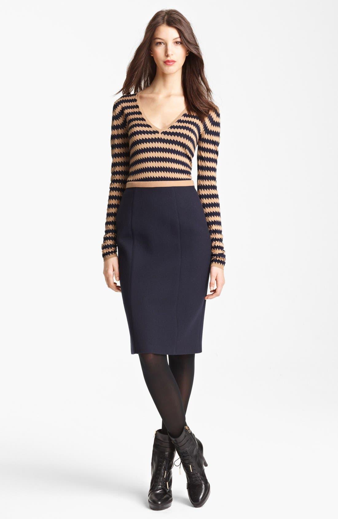 Alternate Image 3  - Burberry Prorsum Contrast Waist Skirt