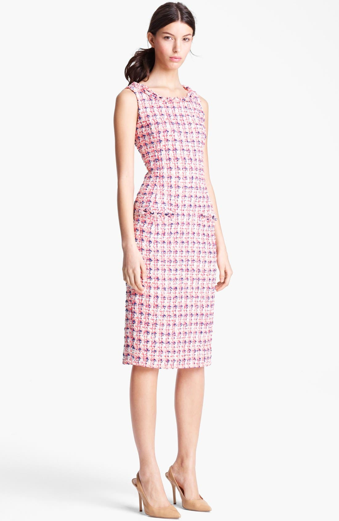 Main Image - Oscar de la Renta Slim Tweed Dress